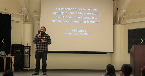 mark! Lopez speaking at our 2017 lecture series