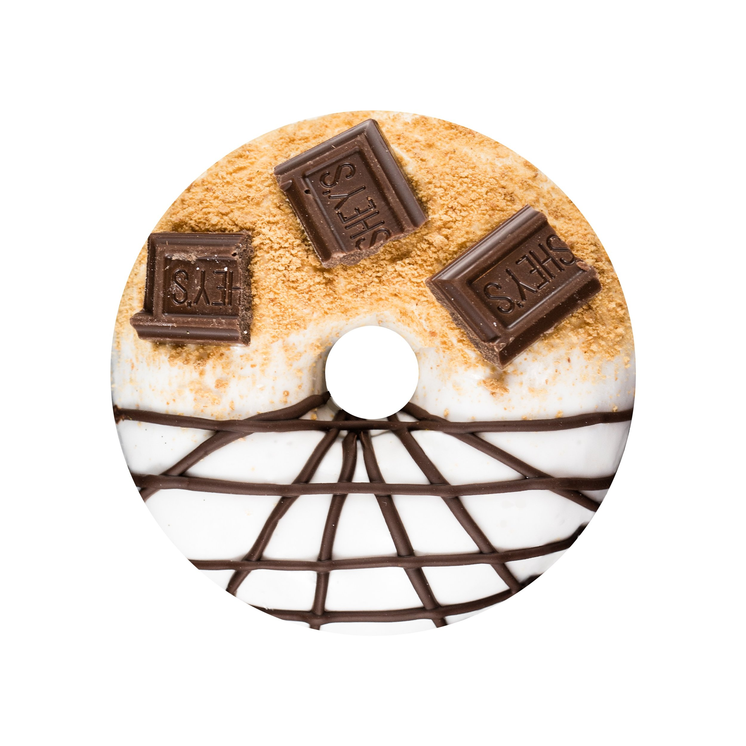 S'MORES - MARSHMALLOW GLAZE+ GRAHAM CRACKER CRUMBS+ HERSHEY'S SQUARES+ CHOCOLATE DRIZZLE