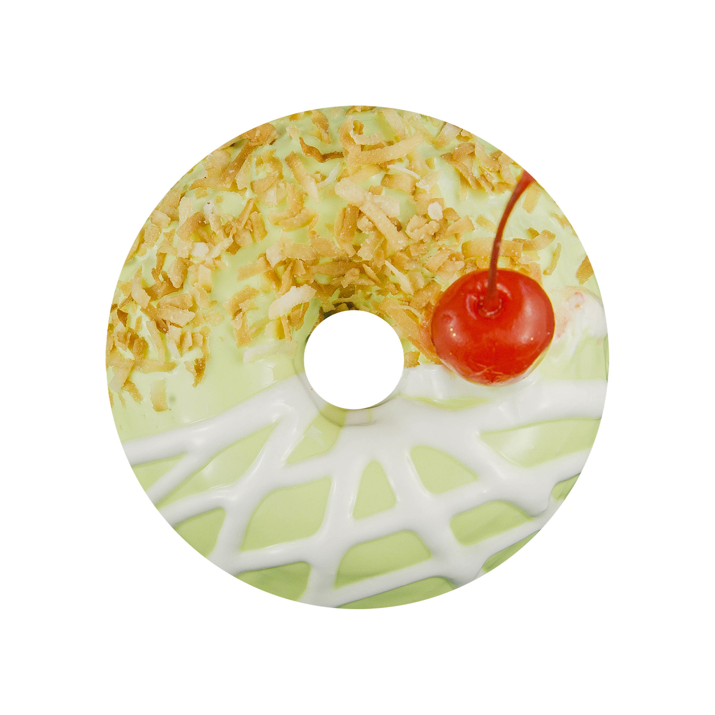 PIÑA COLADA  - PINEAPPLE GLAZE+ TOASTED COCONUT+ MARASCHINO CHERRY