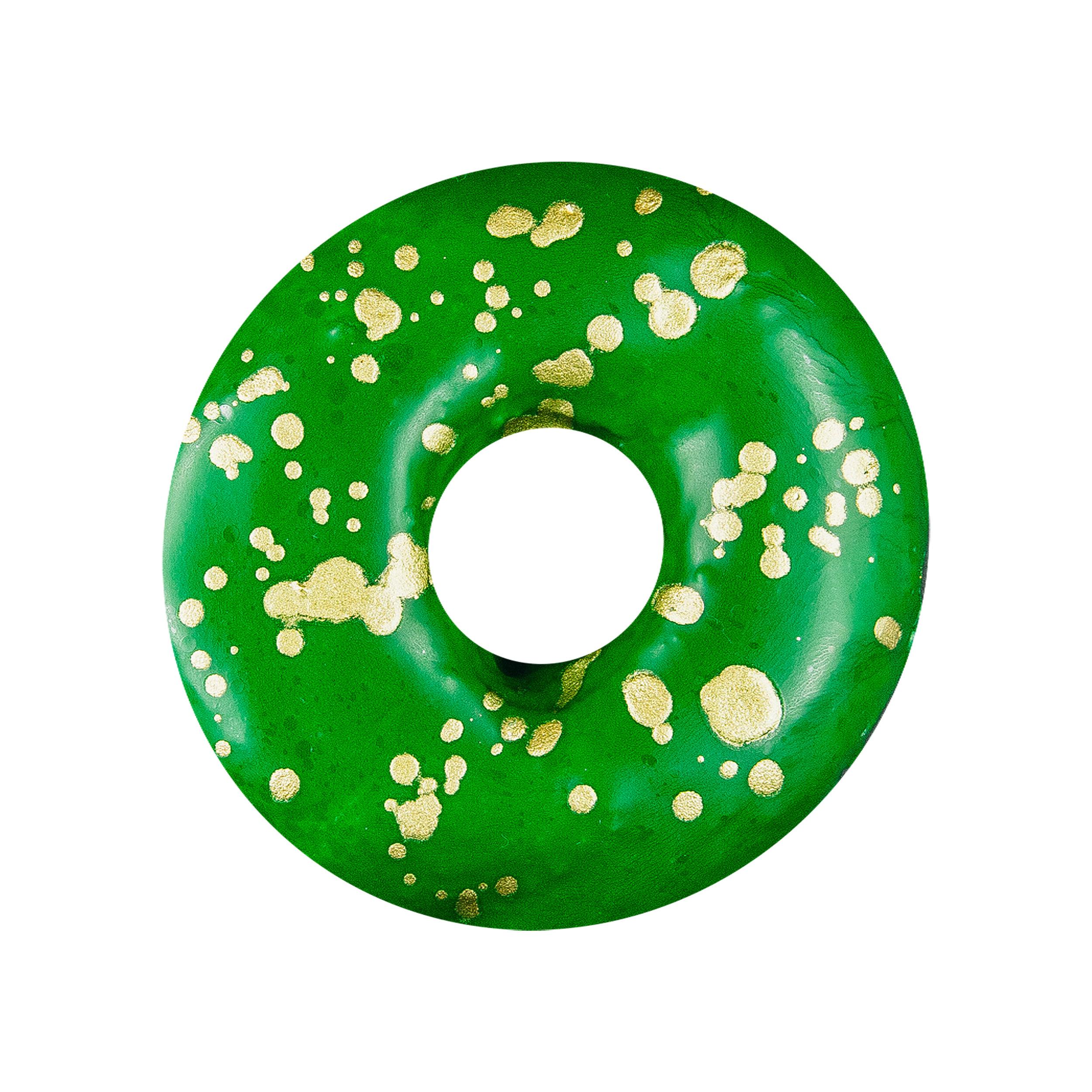 GREEN GOLD SPLATTER -