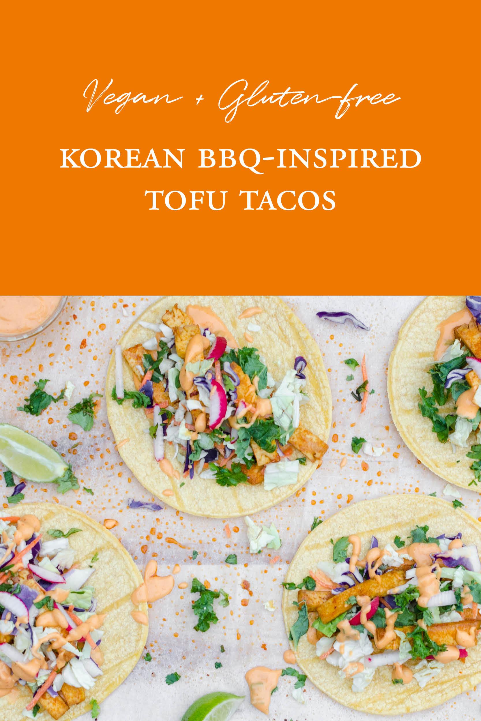 Vegan Gluten-Free Korean BBQ Tofu Tacos Studioist