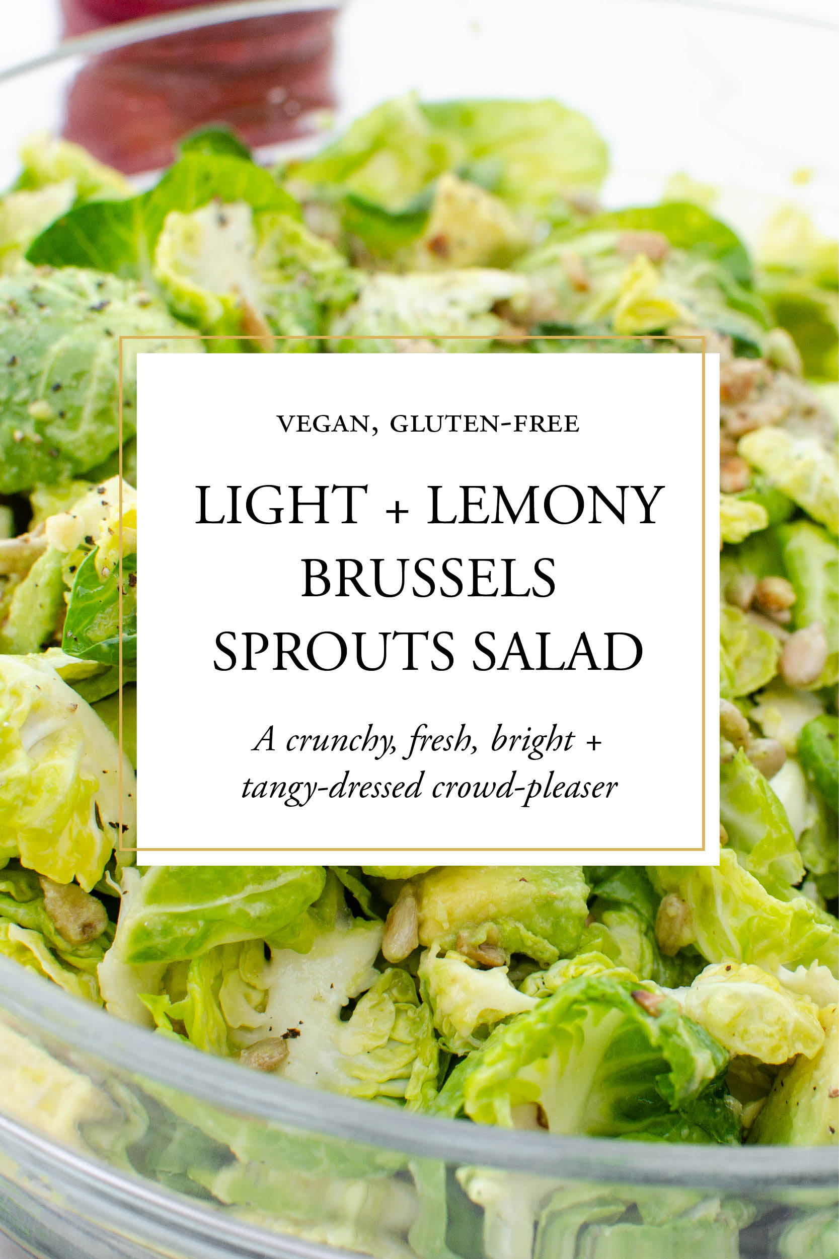 Gluten Free Vegan Light and Lemony Brussels Sprouts Salad_Studioist