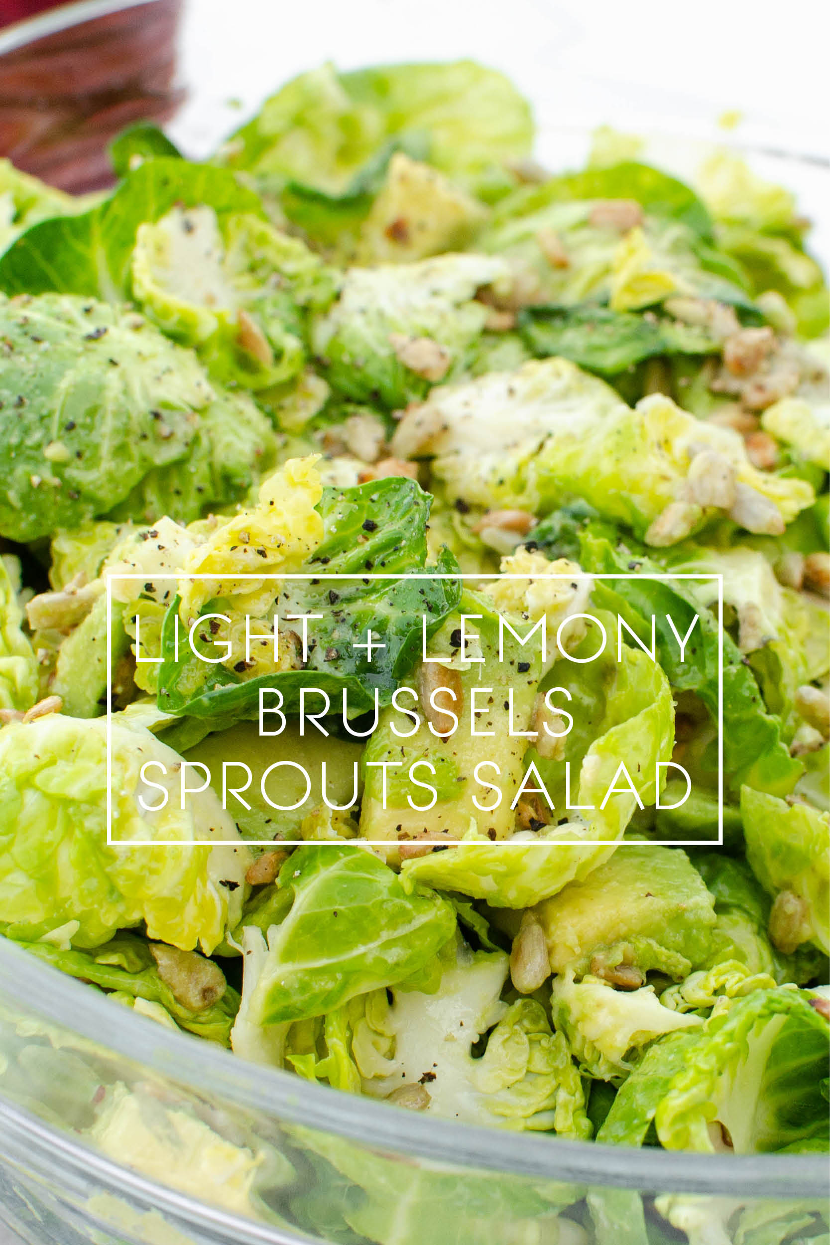 Gluten Free Vegan Light and Lemony Brussels Sprouts Salad 1