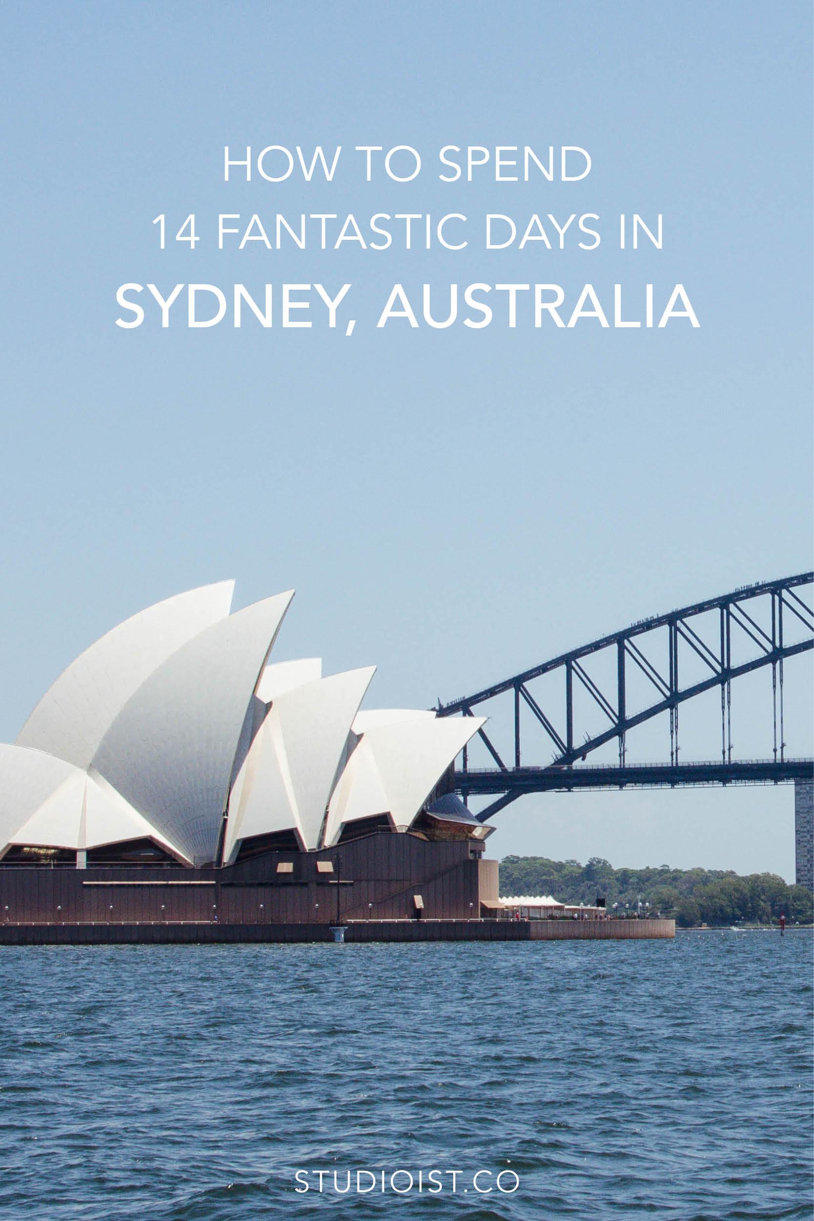 Travel Itinerary - 14 Fantastic Days In Sydney Australia