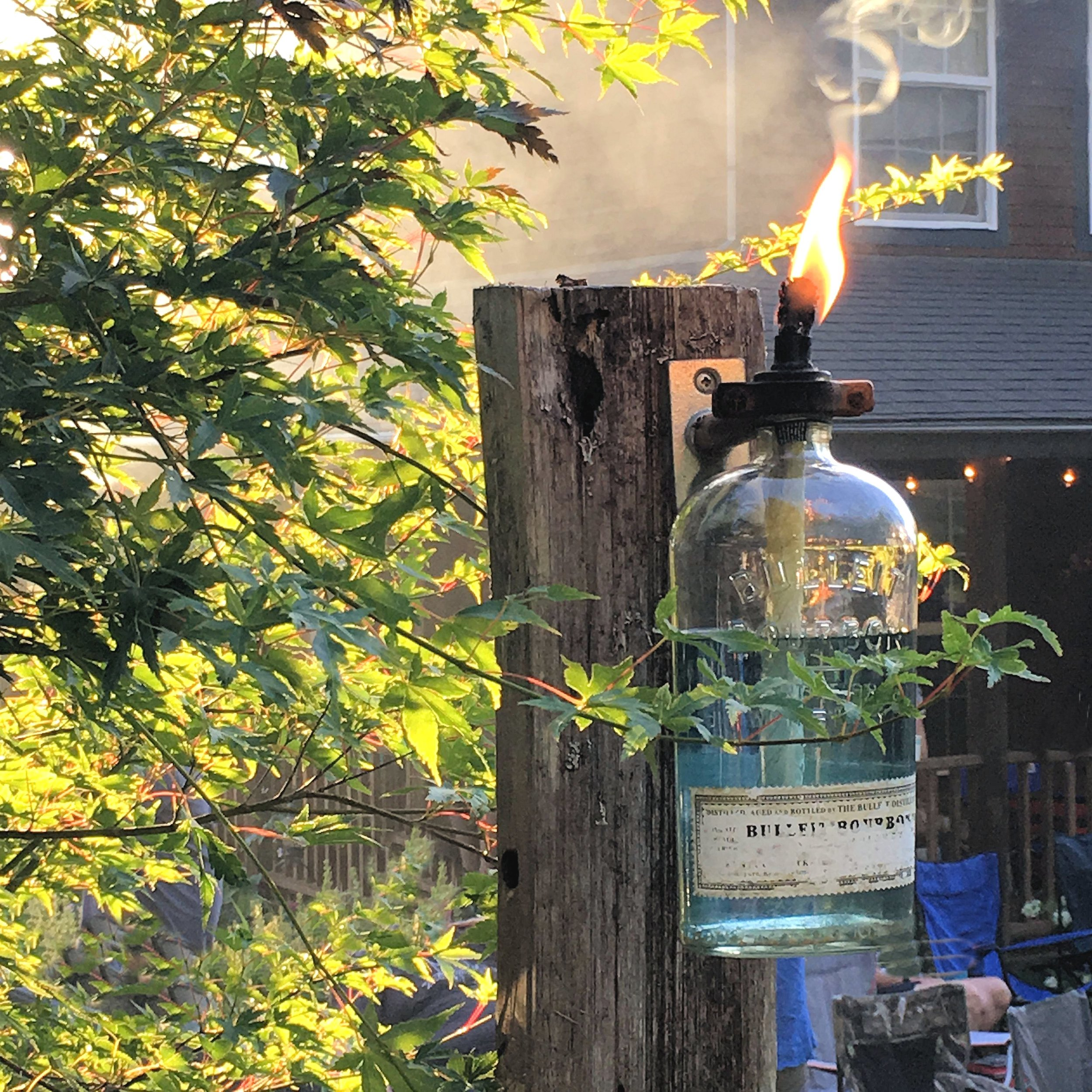 DIY Recycled Wine or Spirits Bottle Torch