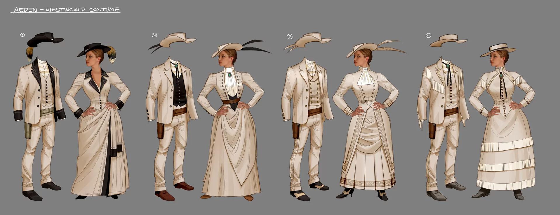 second round of costume design for Imogen & Aeden