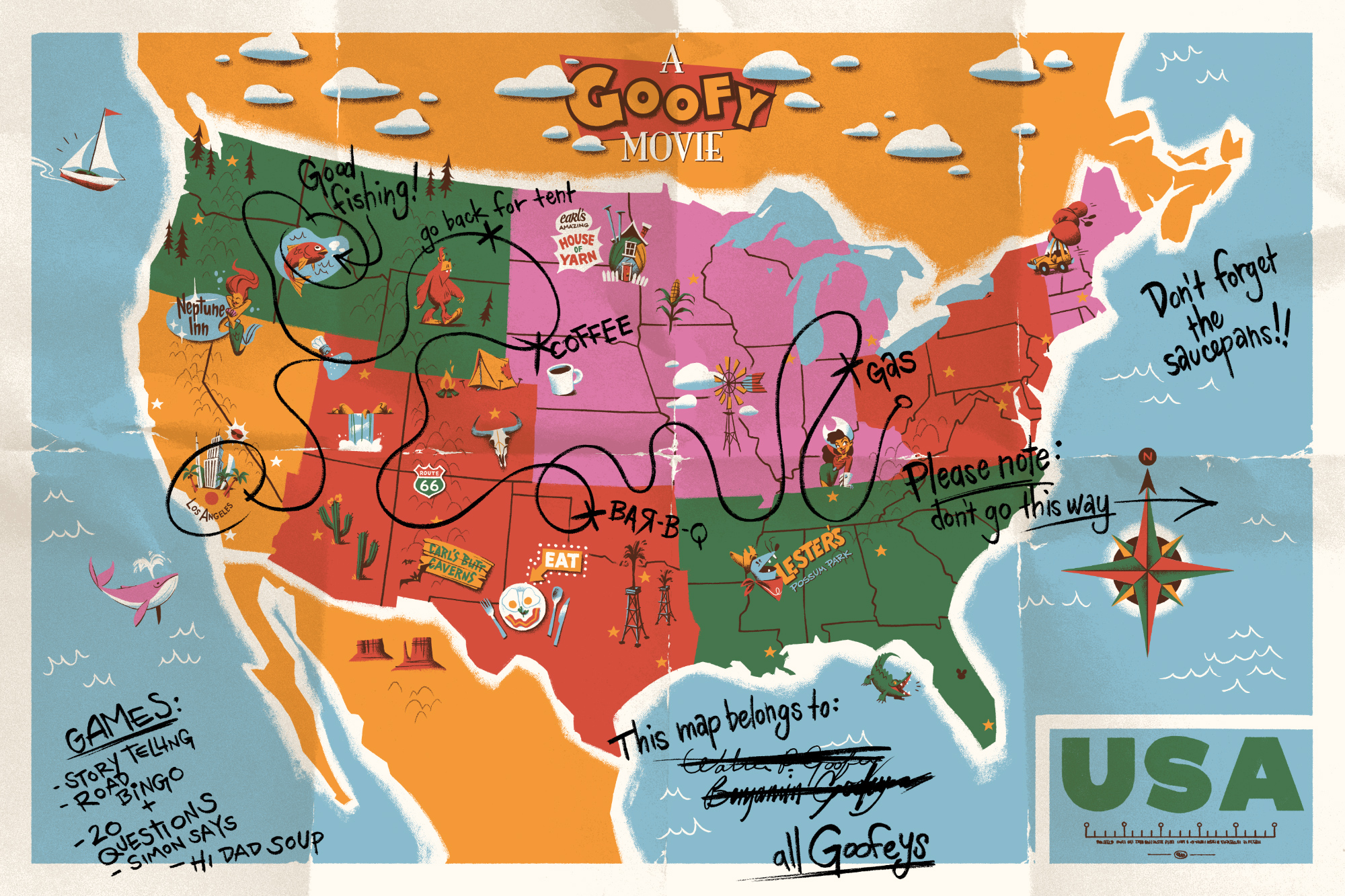 A Goofy Movie map | Gallery Nucleus & Cyclops Prints