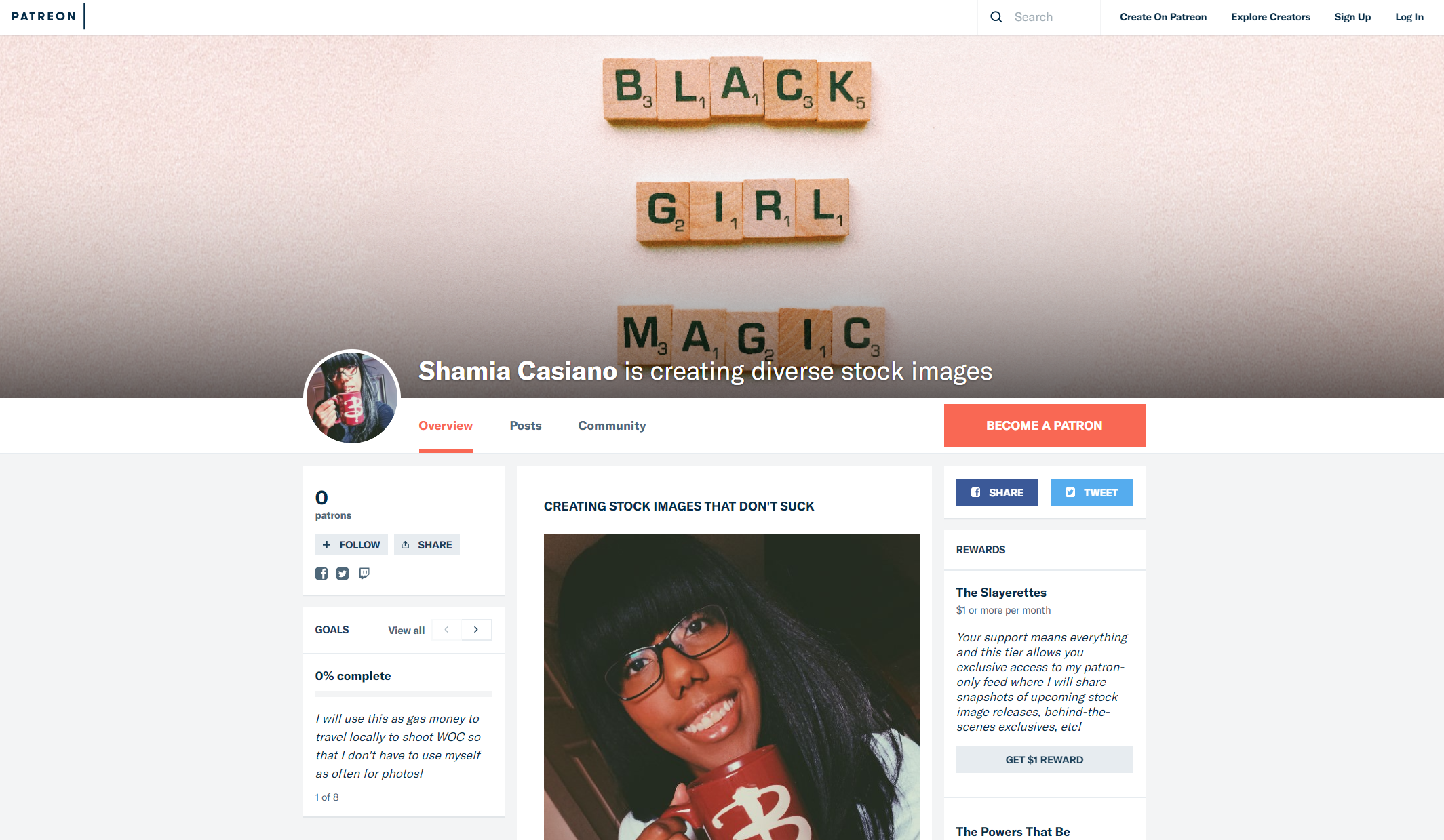 Click the image to open a new window to my Patreon and check out how you can start getting #MagicalBlackGirlStock delivered right to you, every single month!