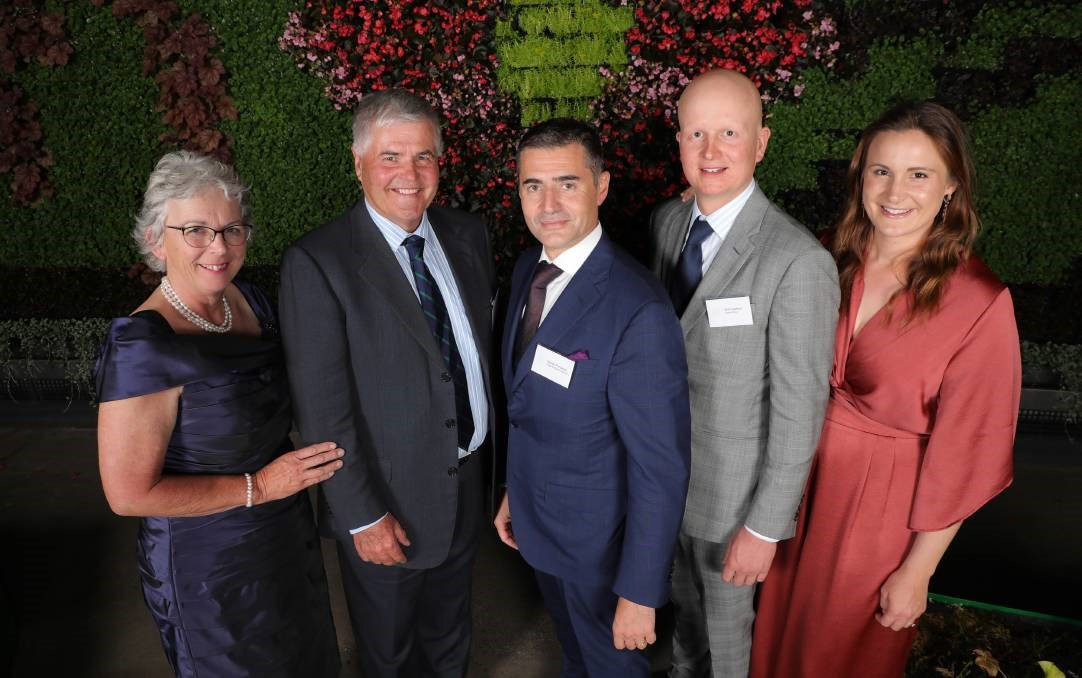 Elite woolgrowers: Jenny and Bill Crawford, VBC's Davide Fontaneto, and Will and Prue Crawford.