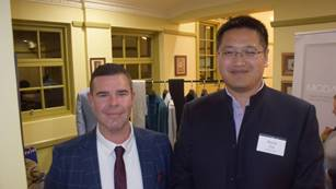 Troy Pearson and Kevin Xing, Natsun Australia  - the newest member of ASWGA