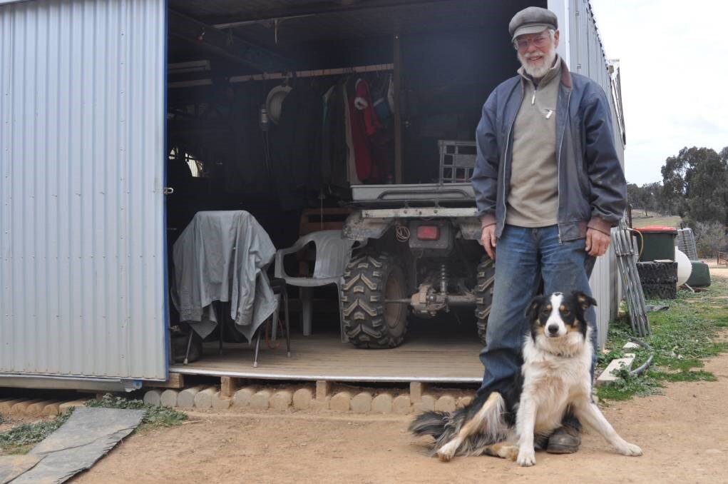 NOMINEE: Superfine wool grower John Ive with his dog Moccha at Talaheni in Yass River. Photo: Hannah Sparks