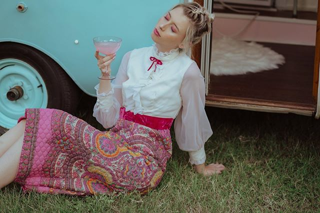 Dreaming of the weekend? It's finally here! 🥂💕 Visit us all weekend, 1pm-7pm 🌈 . . . Photographer: Kimberley Garner (@goldenhourjunkie) Location: SassTass & The Pour Horse, Mobile Bar Co LLC Tassie Grantham Model: Madison Anders  Wardrobe: Hello Tallulah Hair/Makeup: Erika Ocaña