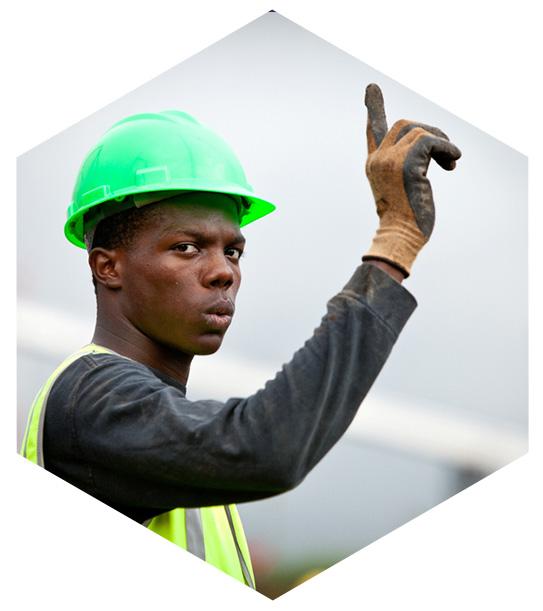 Worker creating solar energy panels