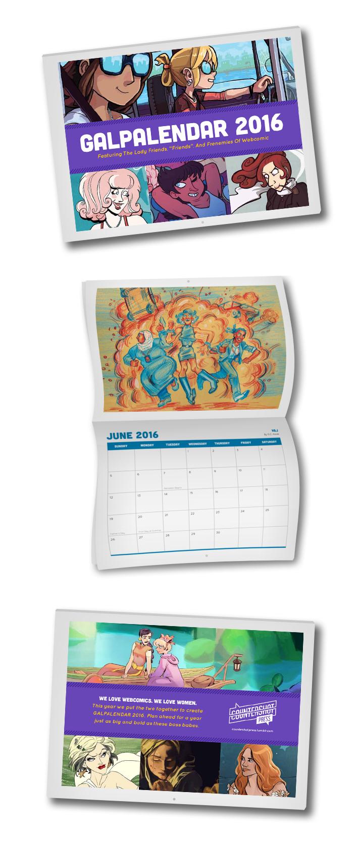 GALPALENDAR 2016  12 month calendar. 2016.