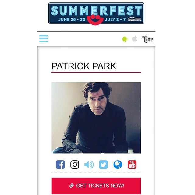 excited to play @summerfest this year in Milwaukee July 2! Tickets at summerfest.com -