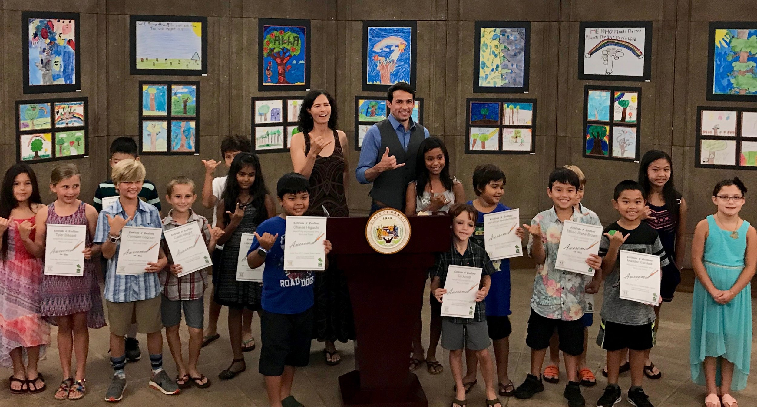 Arbor Day poster contest 2017 at the State Capitol