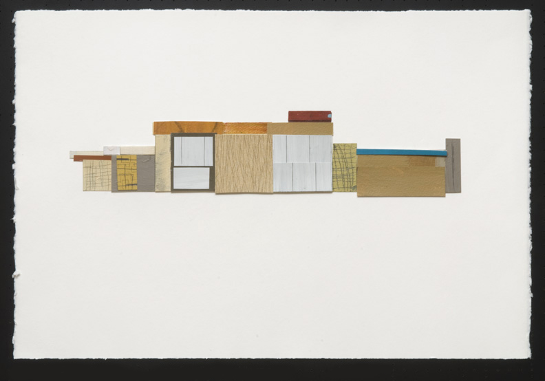 "Structure 6, acrylic/collage/graphite on paper, 15 x 22"" - SOLD"