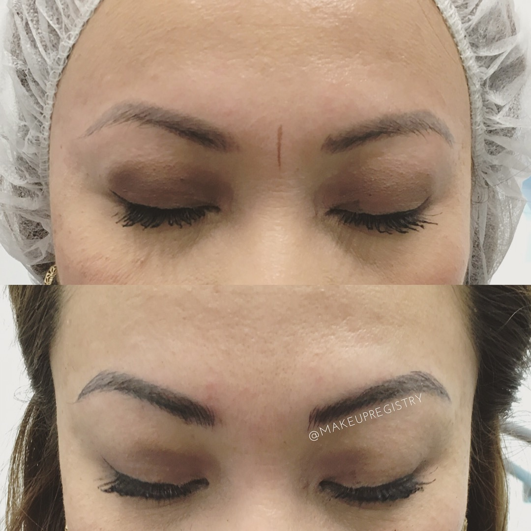 Aileen's Eyebrow Microblading Results