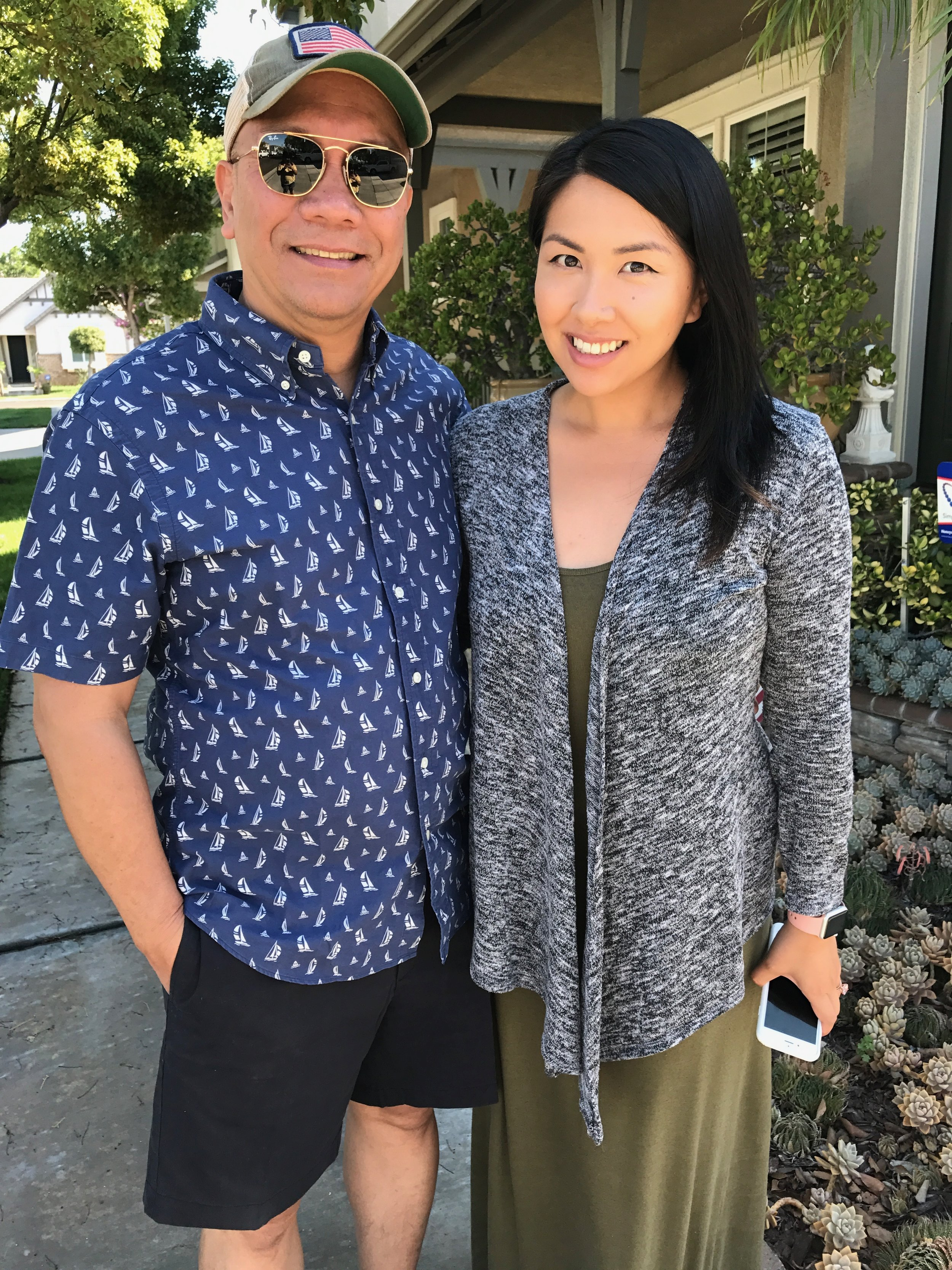My Dad and I on Father's Day, when I was in my best health before falling off the wagon. My skin is just glowing here, no filter!
