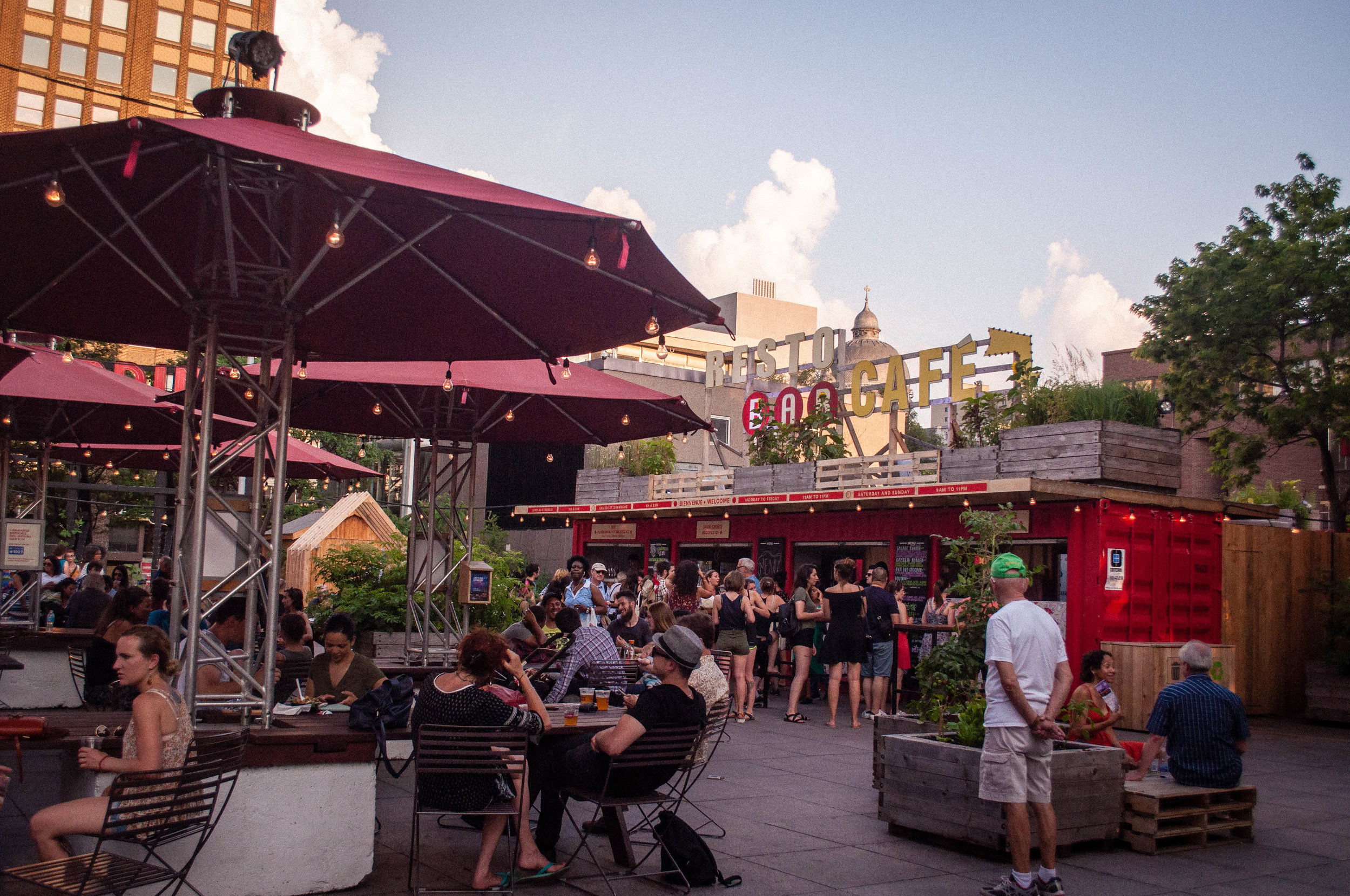Jardins Gamelin terrace, one of the 6 original terraces to enjoy the summer in Montreal