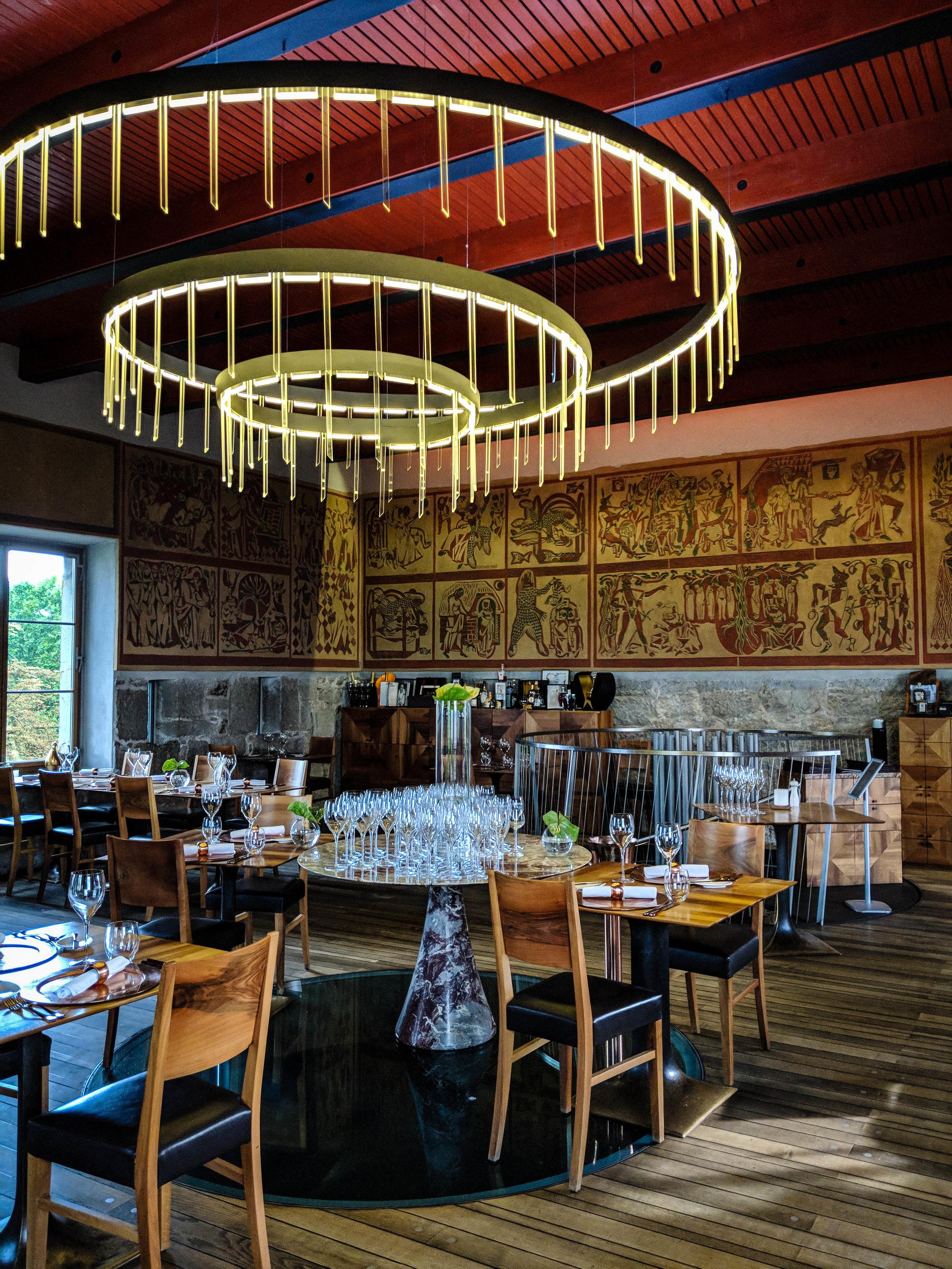 Decor of the Strelec, Ljubljana Castle Restaurant