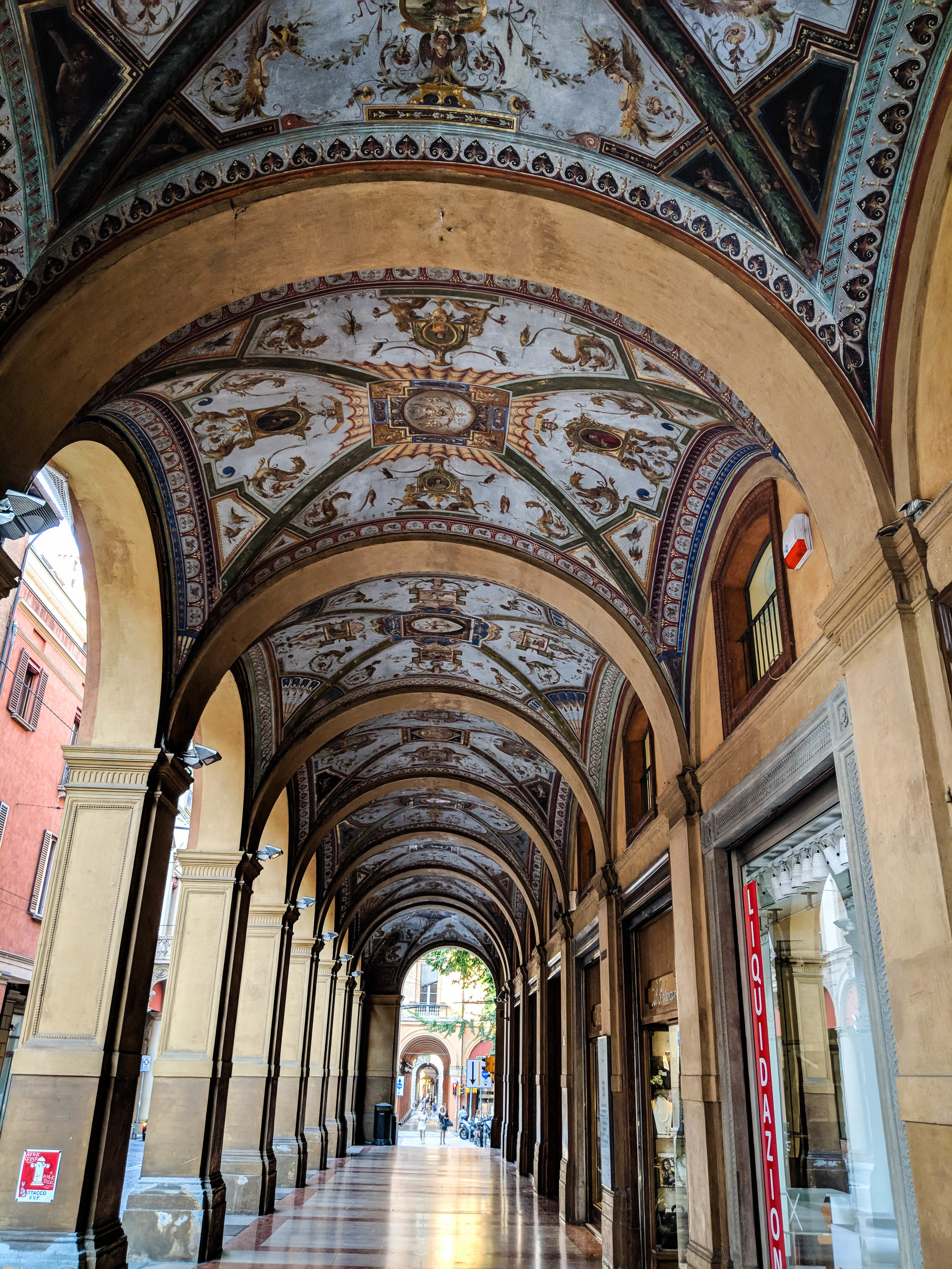 Porticoes of Bologna, part of the city Itinerary