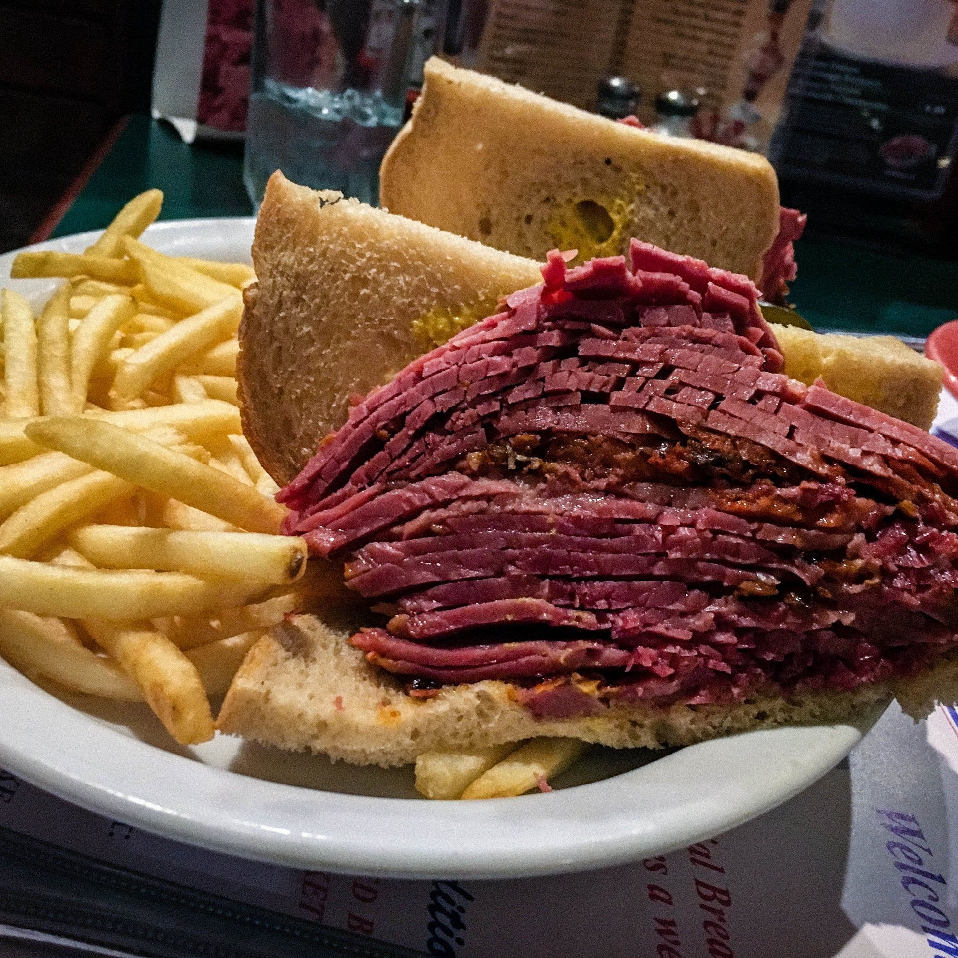 Smoked Meat famous food in Montreal. 10 must-eat food in Montreal