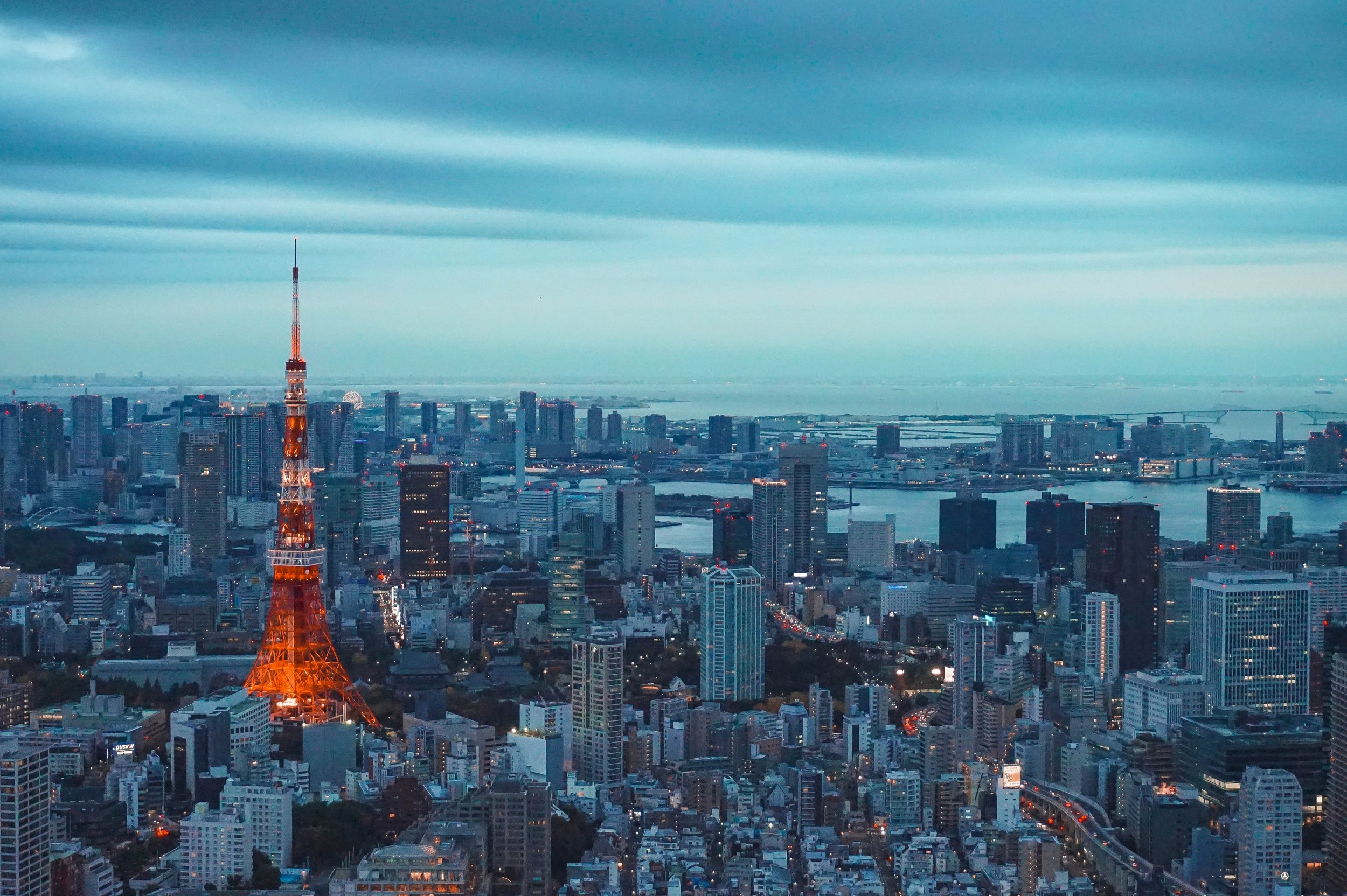 Skyline of Tokyo. Photo credit by Unsplash