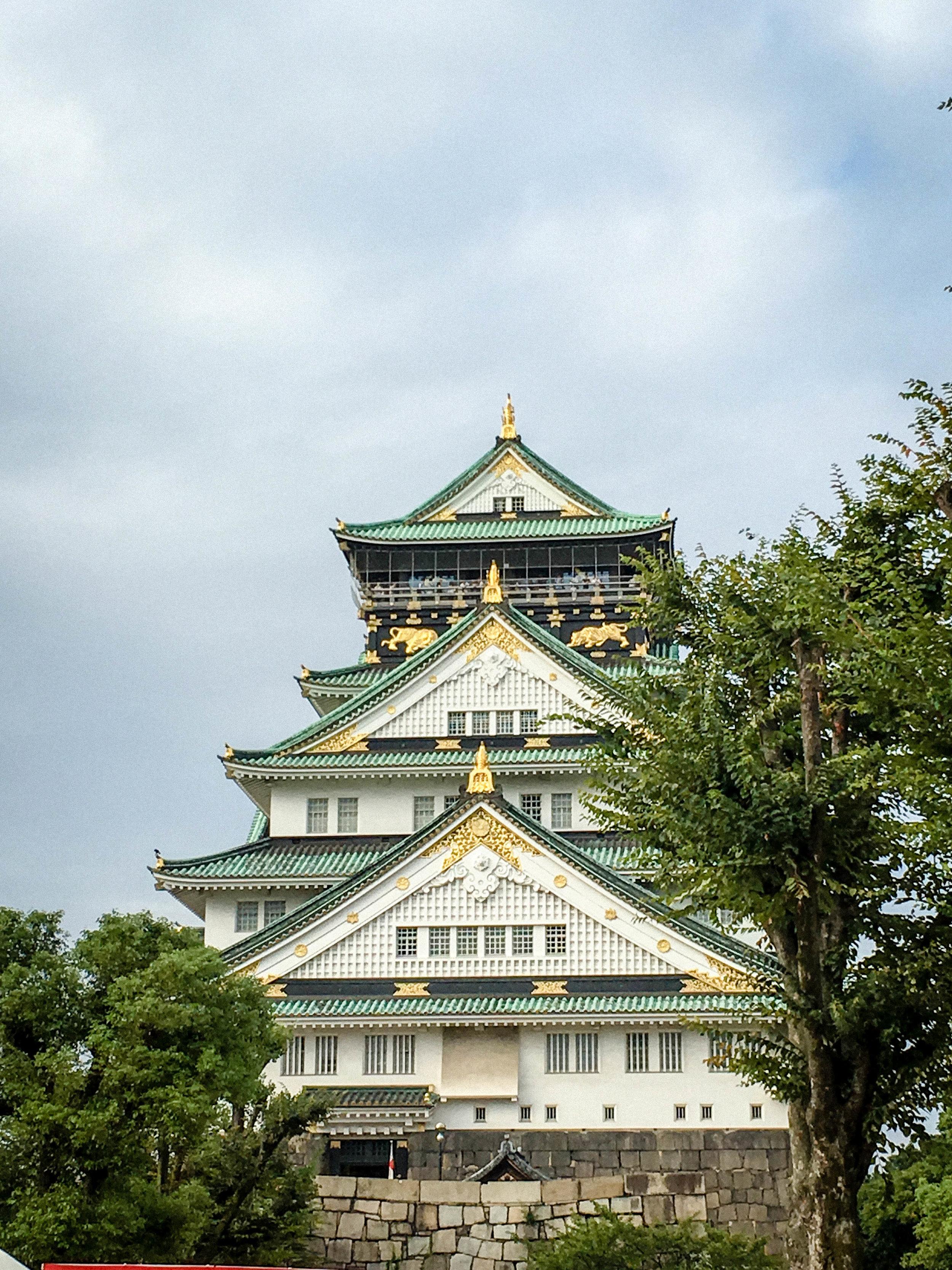 Osaka castle. Honeymoon in Japan