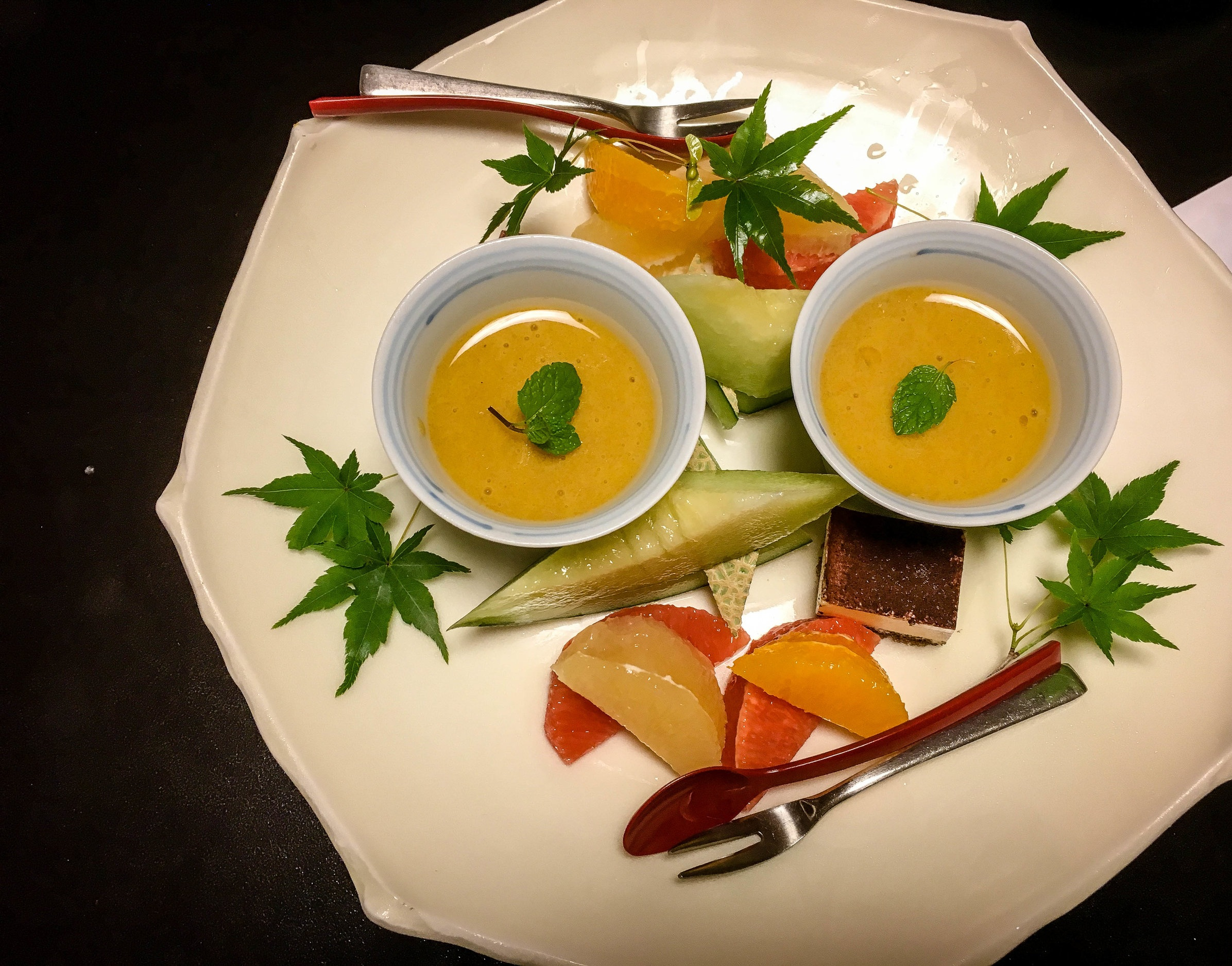 Dishes at a Ryokan. Experiencing a ryokan in a must do for couples doing their honeymoon in Japan