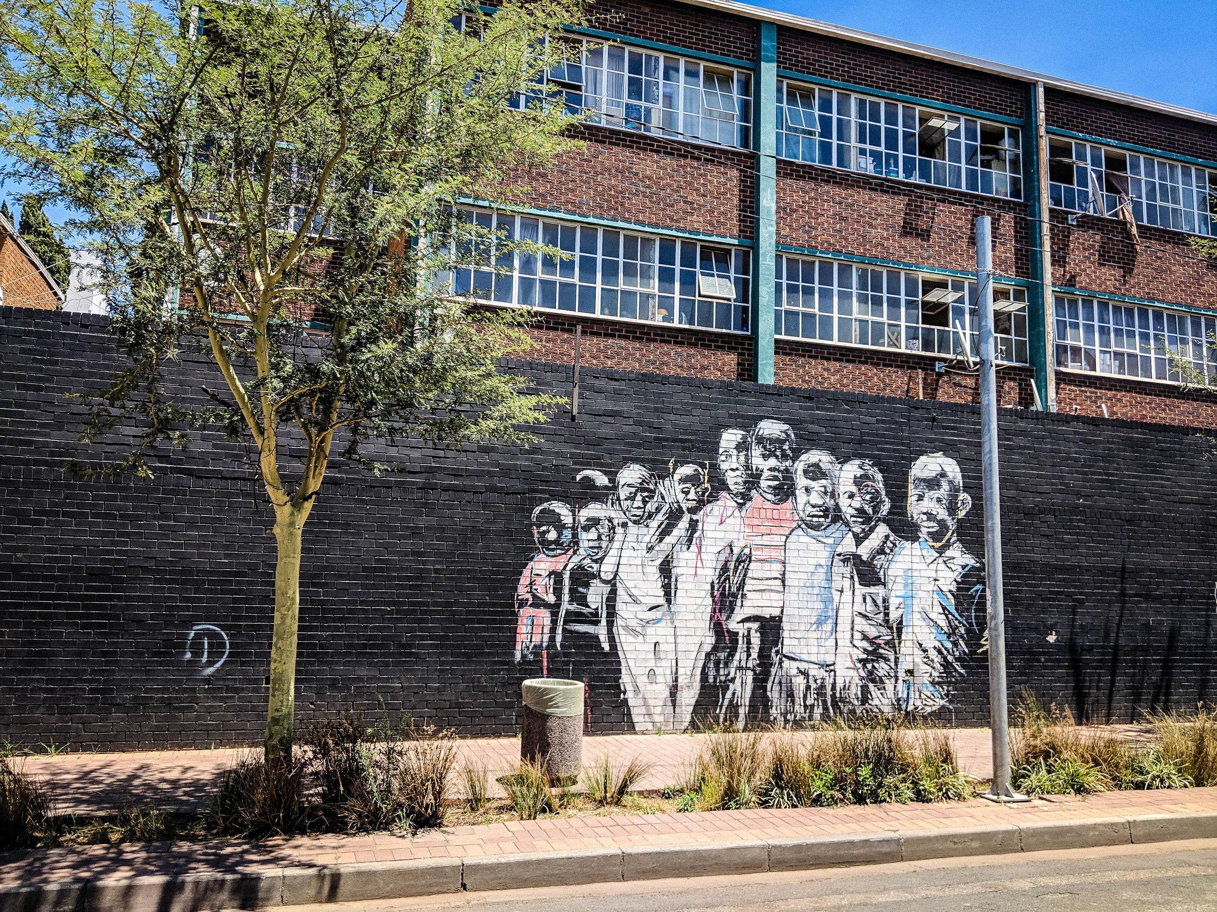 Street art in Maboneng, Johannesburg. Johannesburg Itinerary