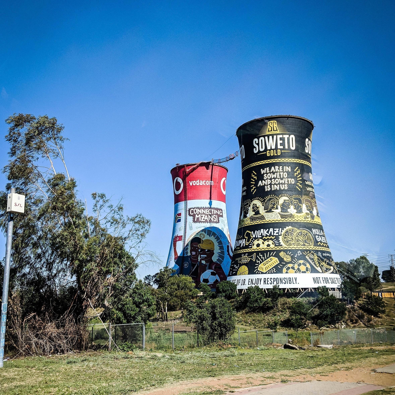 Soweto towers. Johannesburg Itinerary