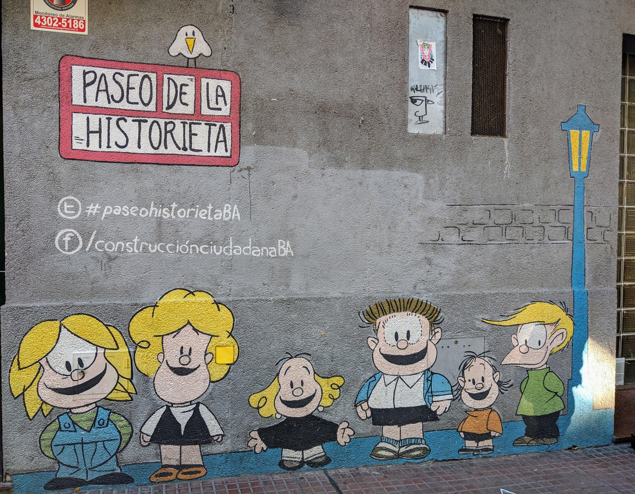 Mafalda statue in  San Telmo, Buenos Aires
