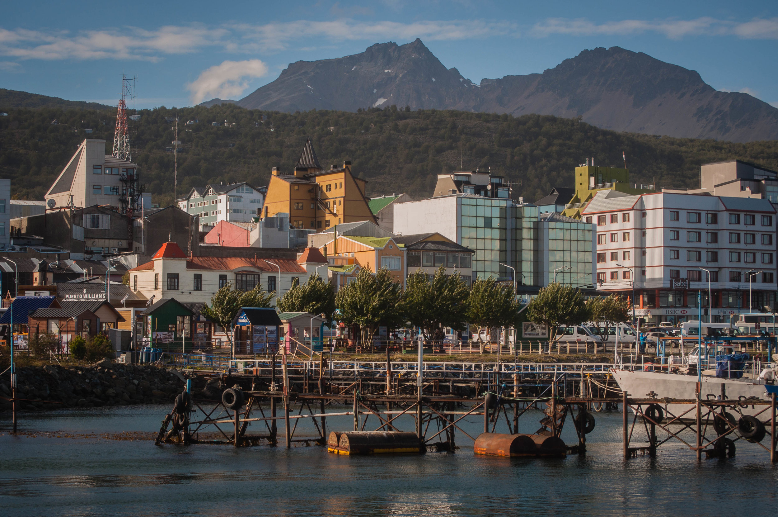 The city of Ushuaia with its colourful buildings. Best things to do in Ushuaia