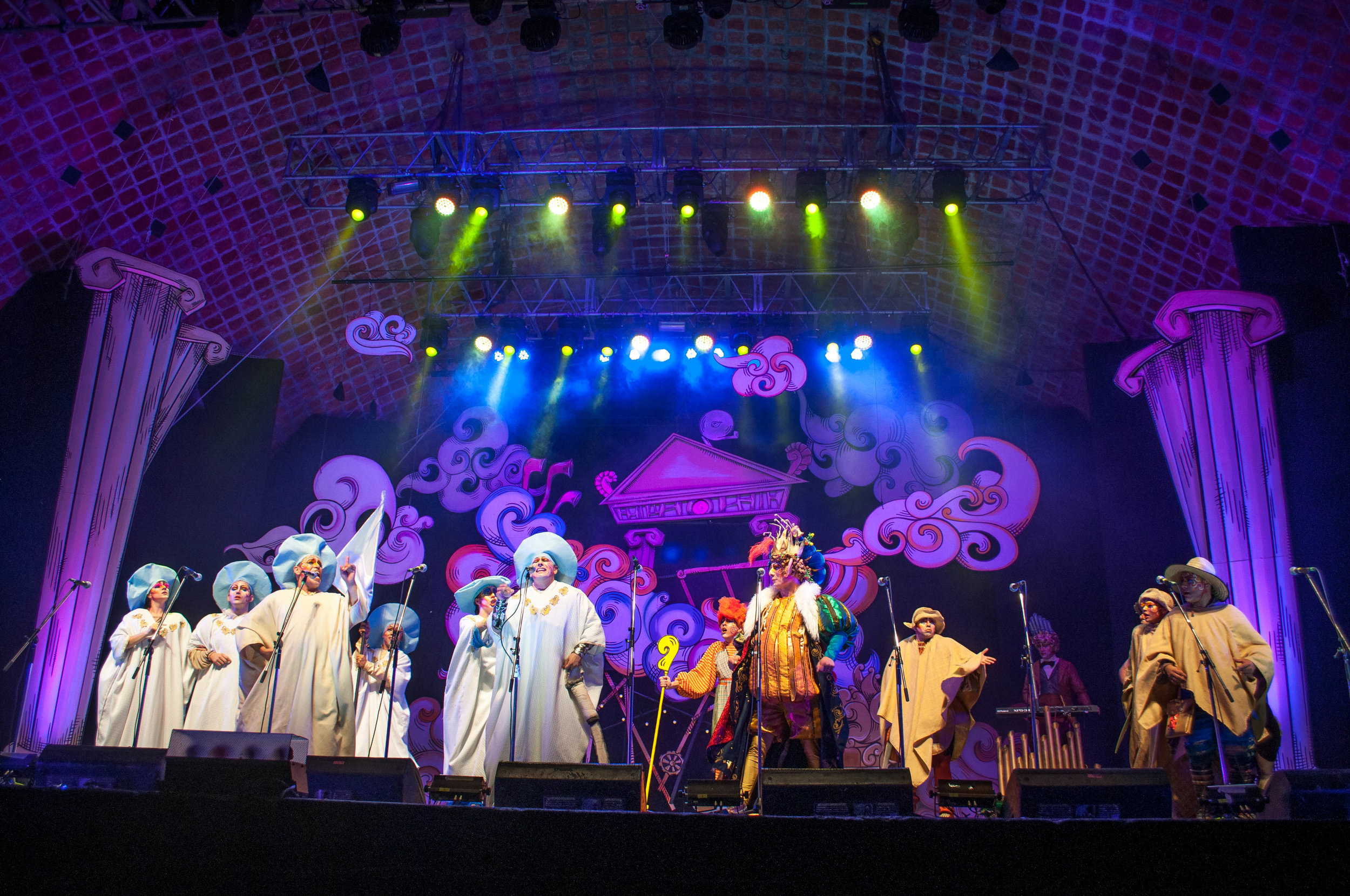 Murgas show in Montevideo. Part of the Uruguayan carnival. Things to do in Montevideo