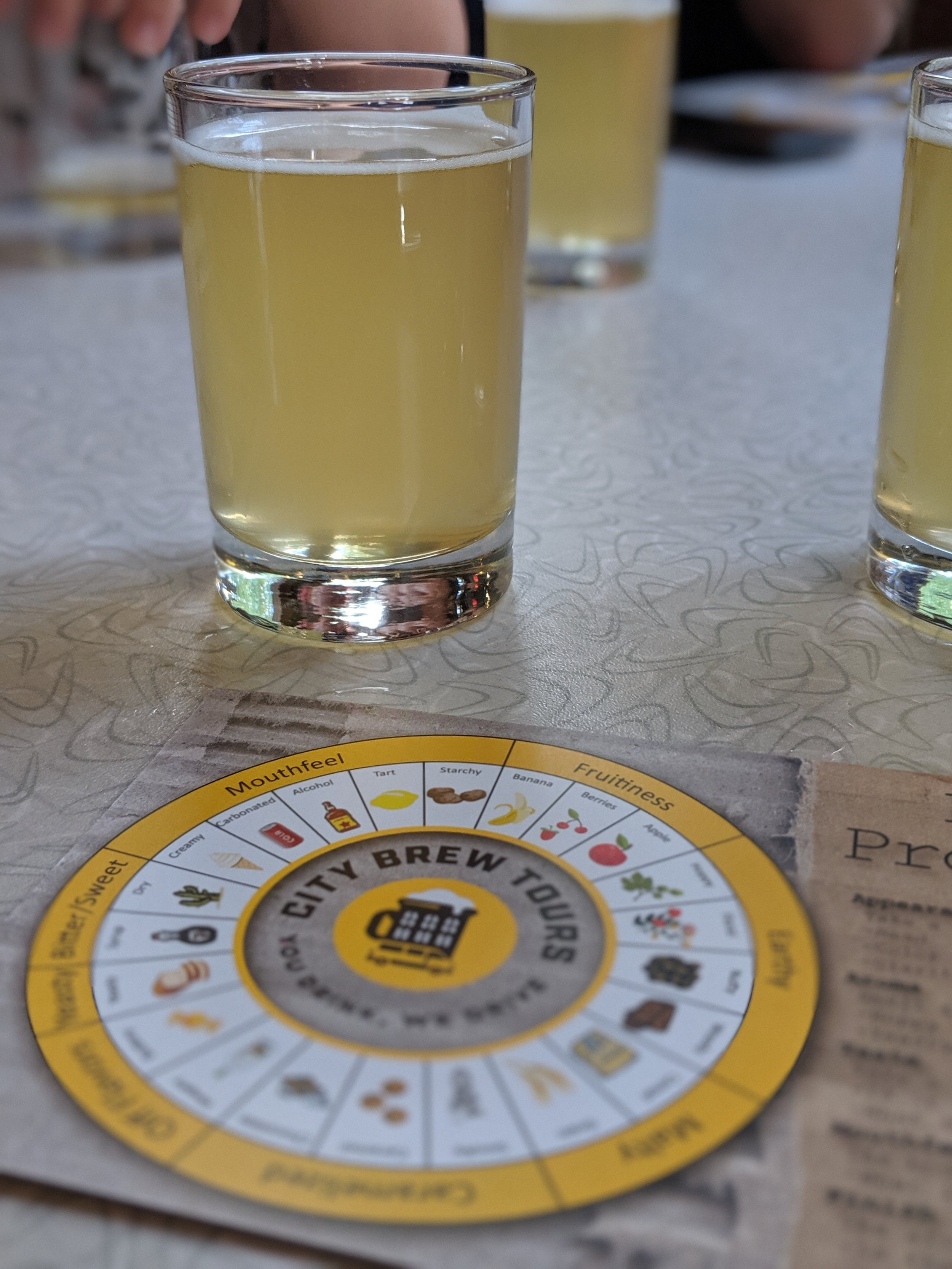 City brew tours' wheel of flavour. A guide of Montreal breweries