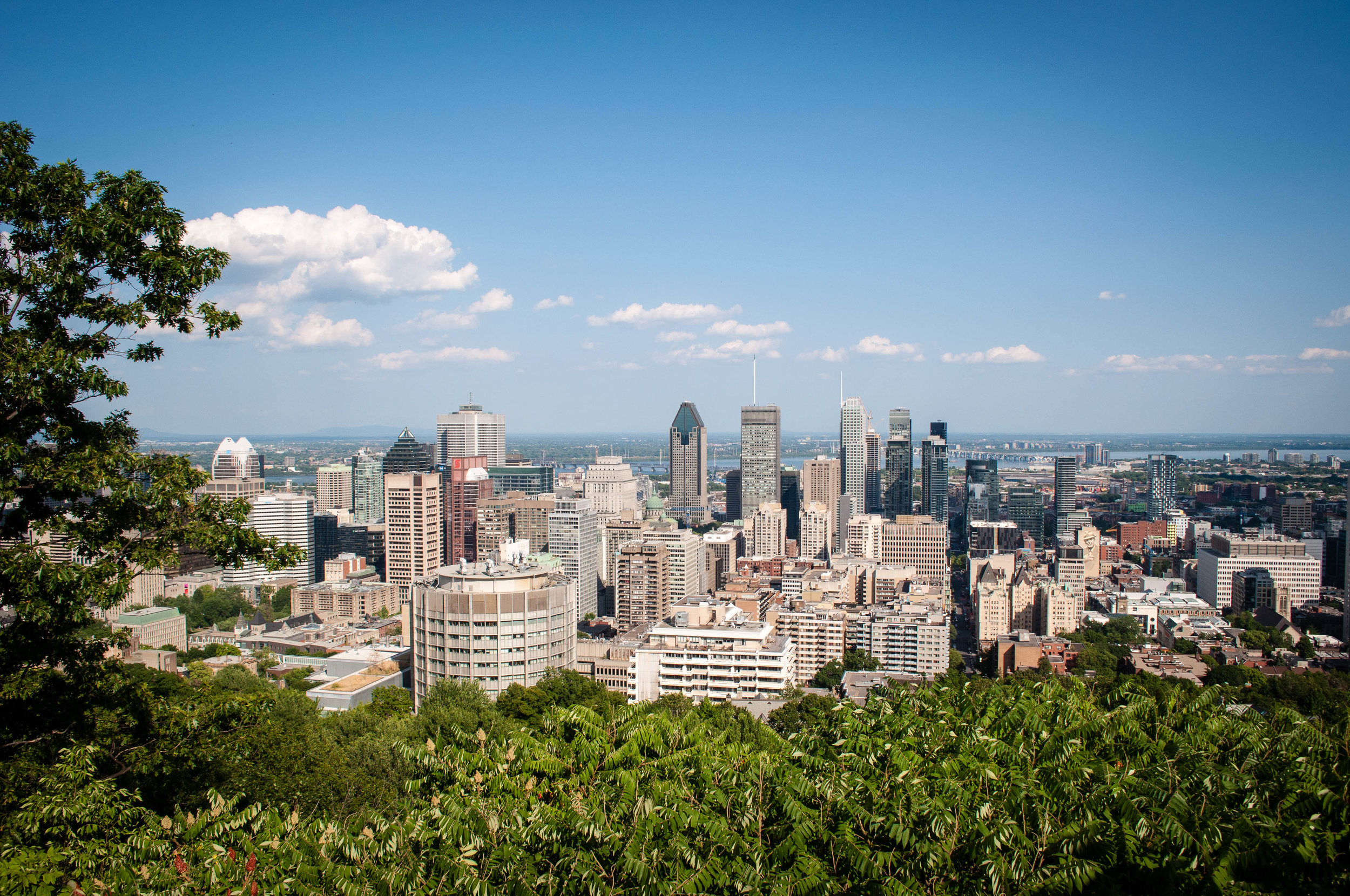 Montreal skyline. Top 7 things to do in Montreal THIS Summer