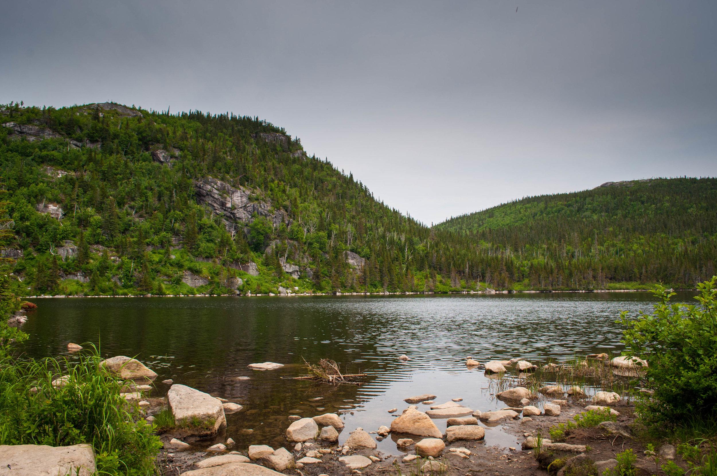 Hike at Mont du Lac des Cycnes, views of Lac Georges