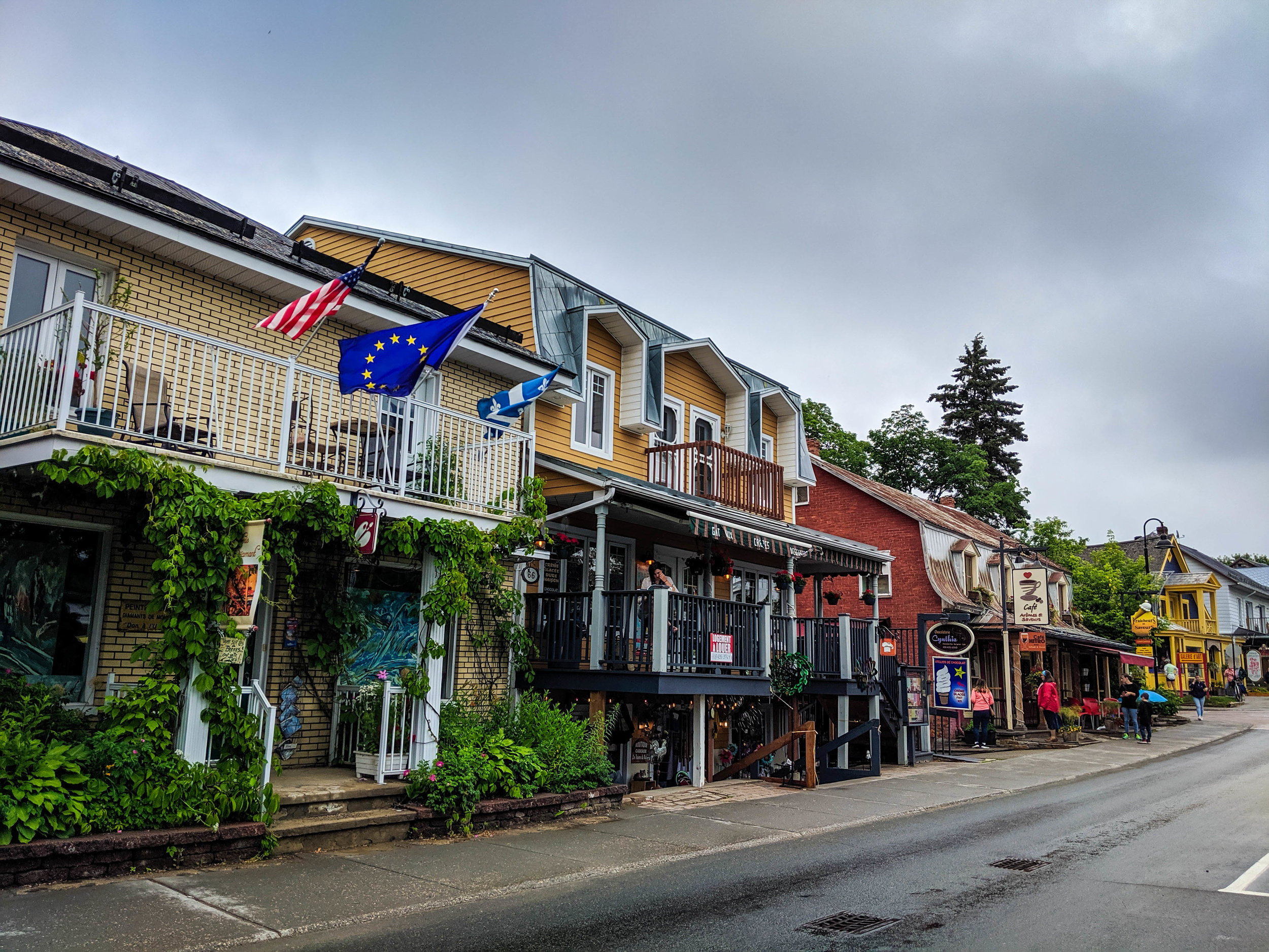 The colourful French Canadian village of Baie Saint Paul