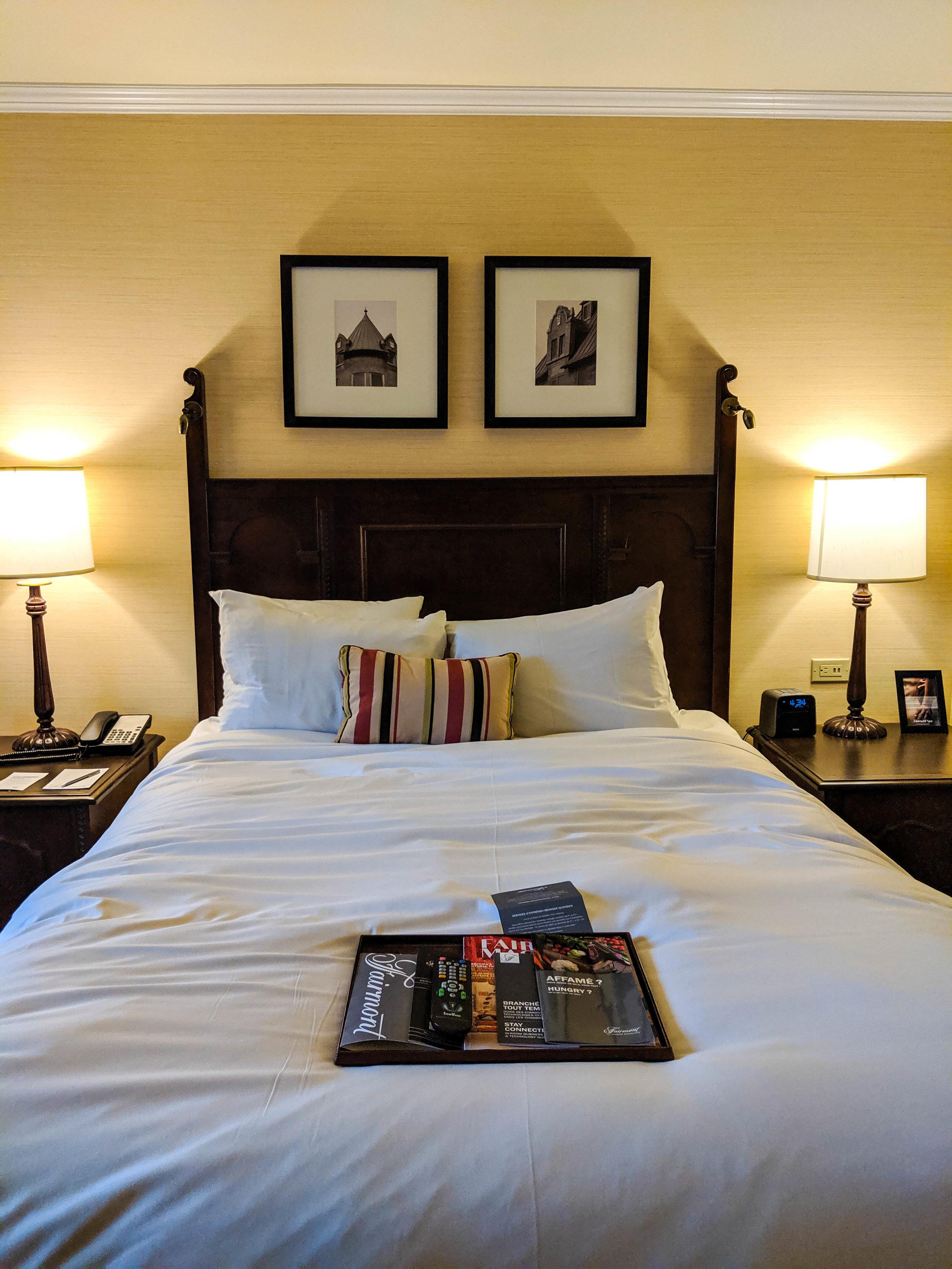 Hotel room at the Fairmount Hotel, Le Manoir Richelieu