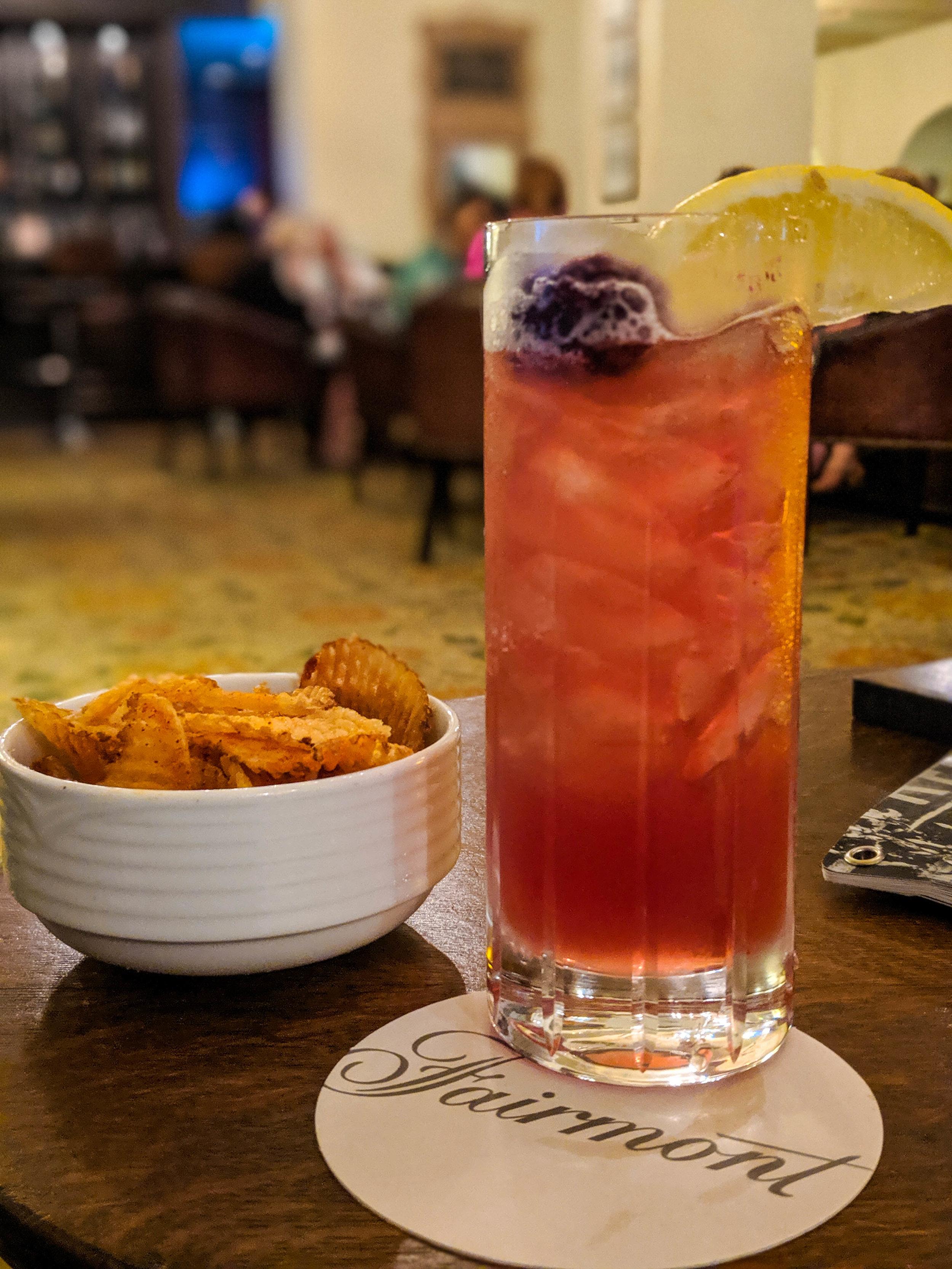 Drink at the Fairmount Hotel, Le Manoir Richelieu