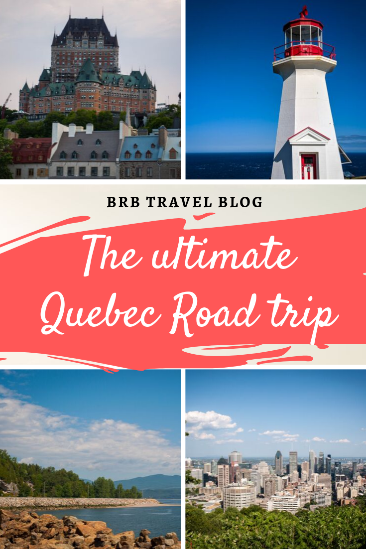 The ultimate road trip through Quebec. This trip takes you from buzzing cities to the mountais and the sea. You will stop in Montreal, Quebec City, Charlevoix and Gaspesie. Canada | Quebec | Montreal | Gaspesie | Charlevoix | road trip #travel #canada #quebec #roadtrip #Montreal #charlevoix #quebeccity #gaspesie