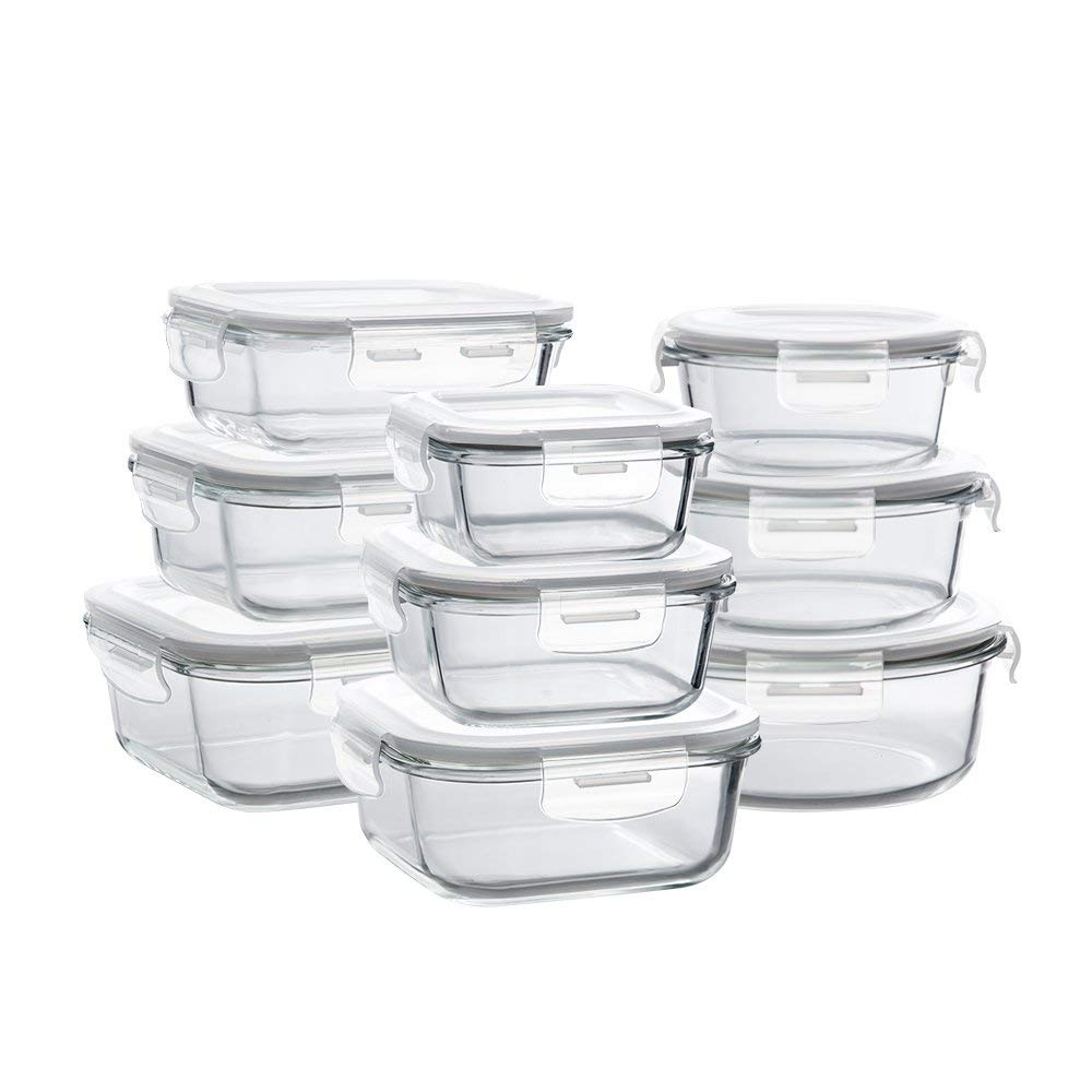 Glass Food Storage - Best for meal prep!