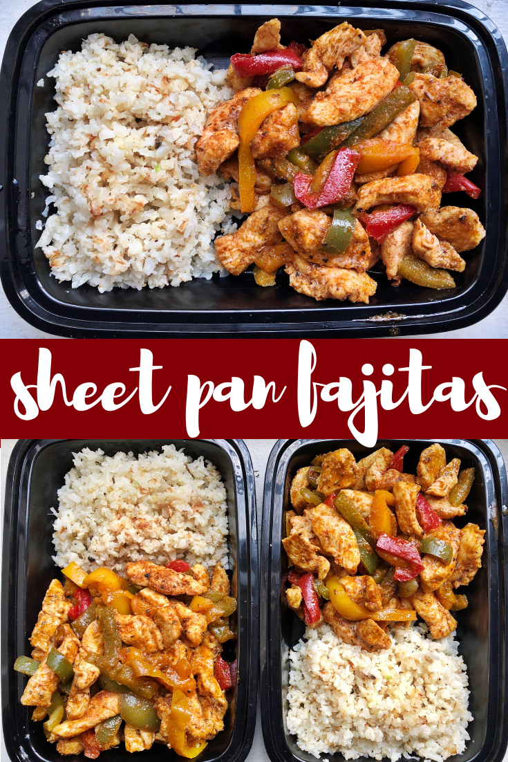 These sheet pan fajitas are the perfect weeknight dinner or meal prep addition. It only takes 20 minutes to make a delicious and satisfying meal with these sheet pan fajitas.