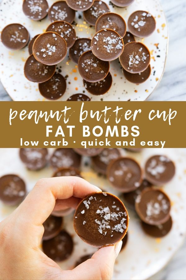 Peanut butter cup fat bombs are a quick and easy, low carb sweet treat that can be made quickly with just 5 simple ingredients. This snack is the perfect addition to a keto, low carb or paleo lifestyle.