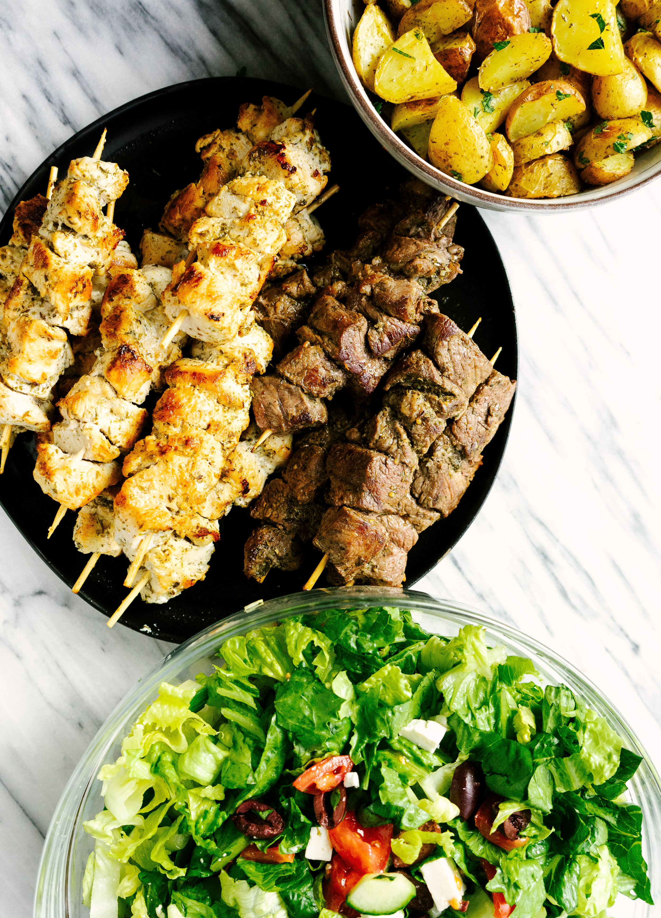 Throw an authentic Greek dinner party for a small group with this fully planned Greek menu. This includes easy to follow recipes and a full shopping list. Make throwing a dinner party easy with this helpful guide.