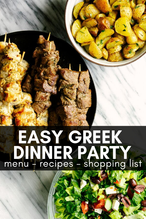 Easy Greek Dinner Party Menu Mad About Food