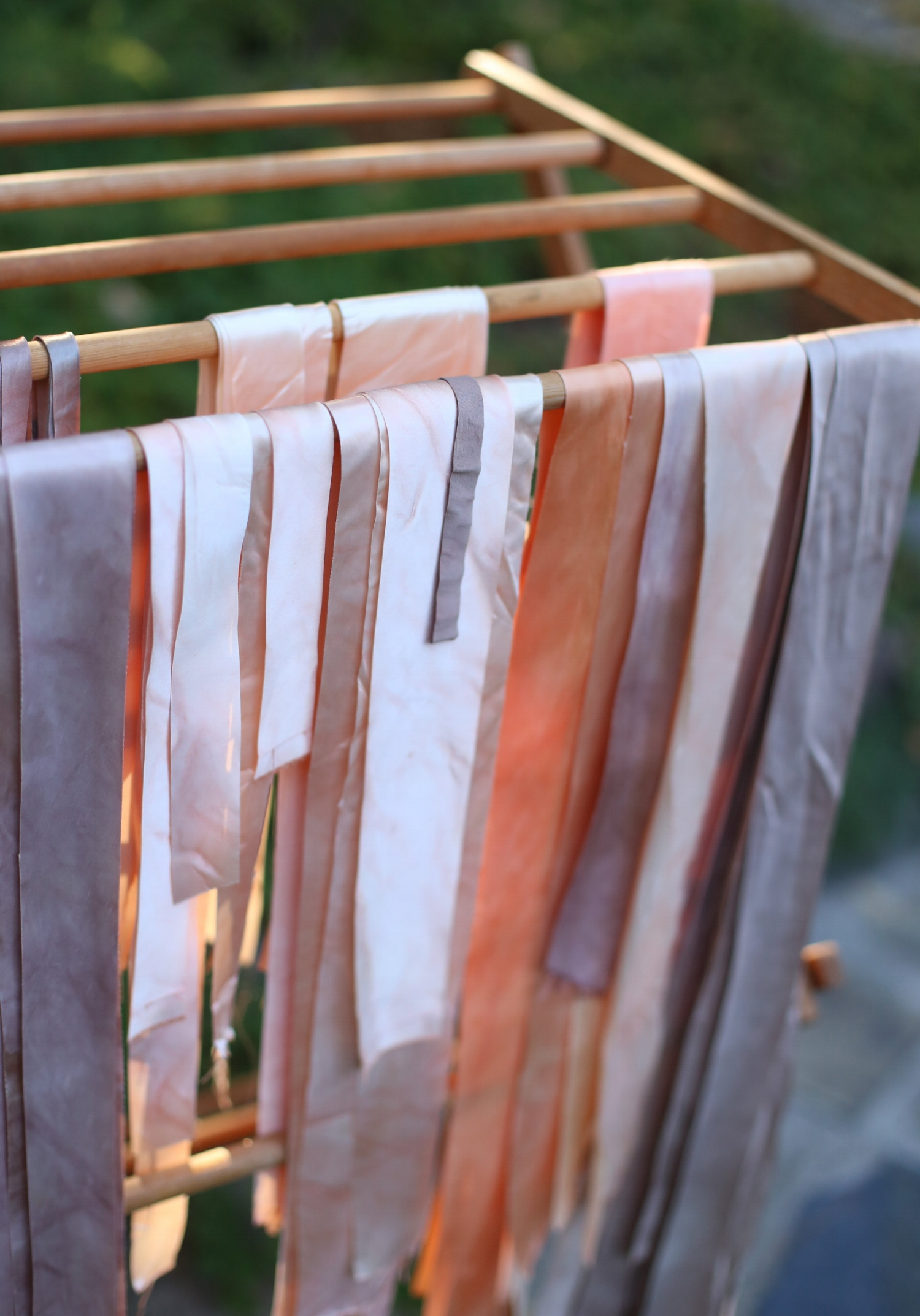 - Next I cut them into long streamers with a rotary cutter. Besides having sentimental value, I knew I couldn't have found ribbons in these colors. I liked having so many subtle variations, too.