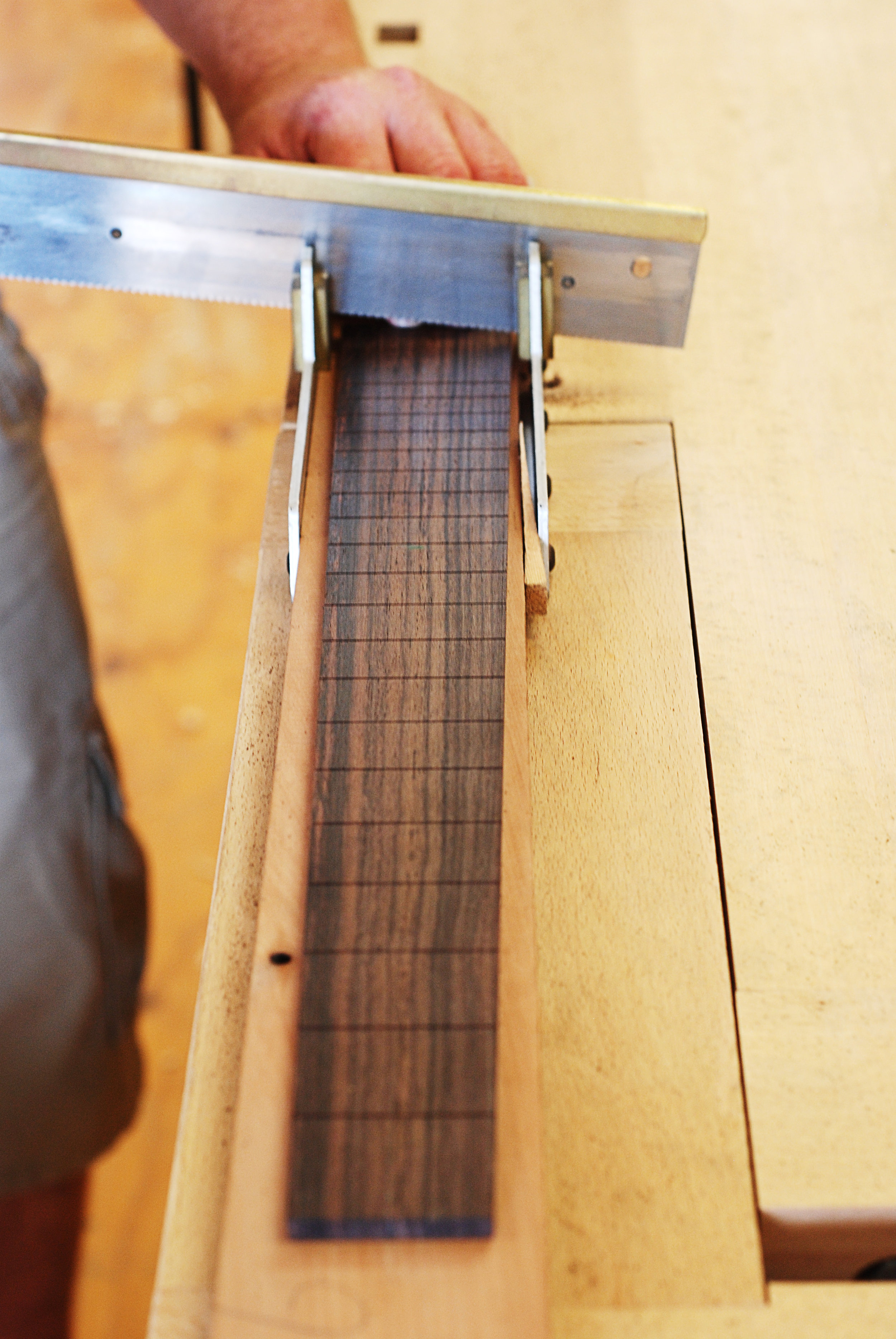 mitre box and fretsaw for cutting fret slots.JPG