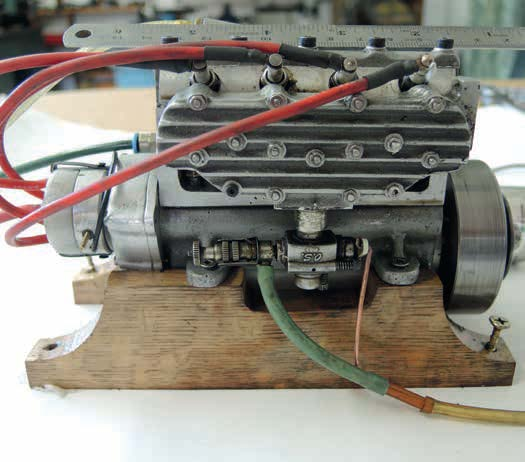 The same Morris Minor engine assembled